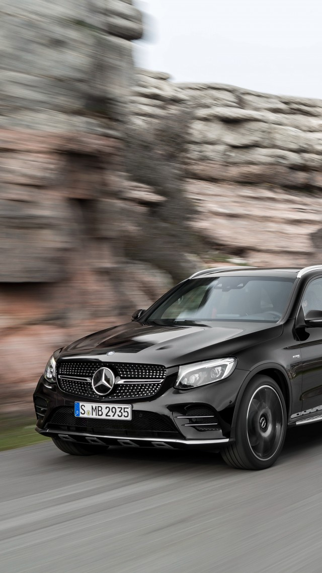 Mercedes-AMG GLC 43, 4MATIC (X253), NYIAS 2016, crossover, black (vertical)