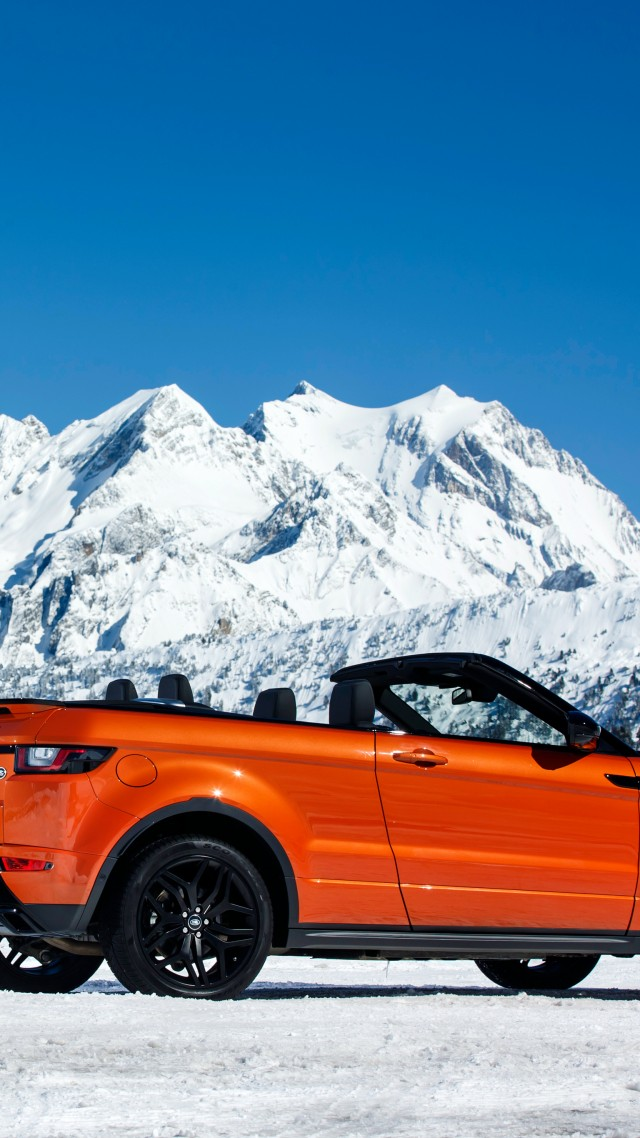 Wallpaper Range Rover Evoque Convertible Cabriolet Orange Cars
