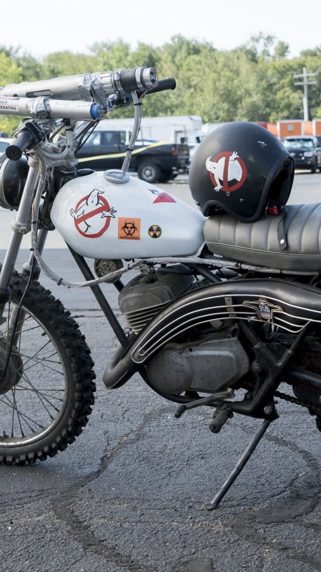Ecto-2, motorcycle, Ghostbusters, Best Movies (vertical)