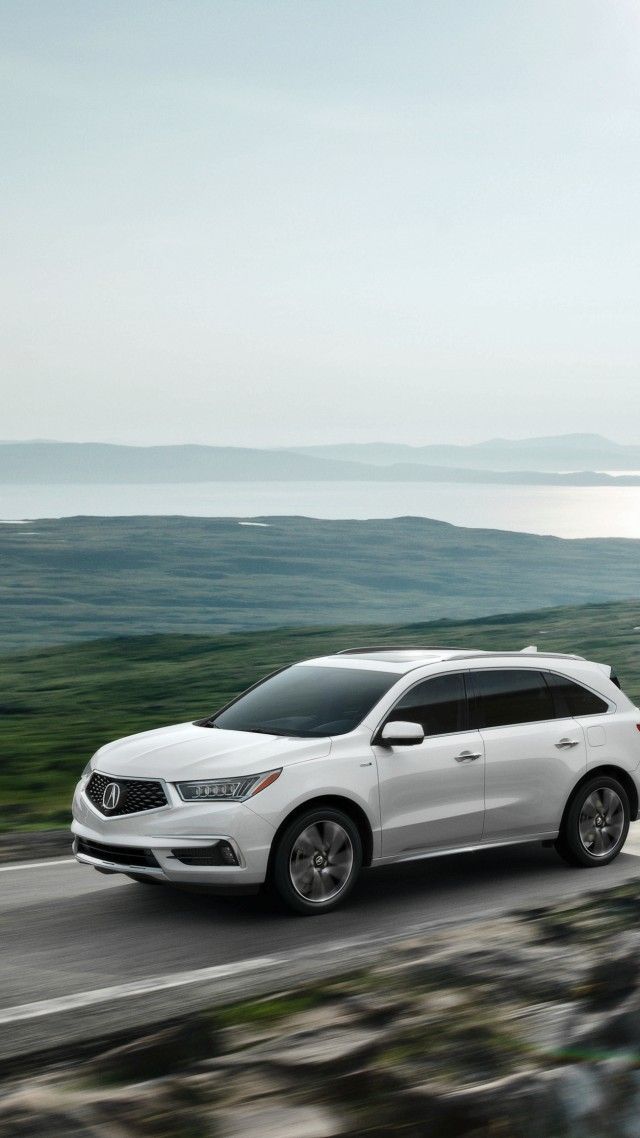 Wallpaper Acura MDX, NYIAS 2016, Hybrid, Crossover, White