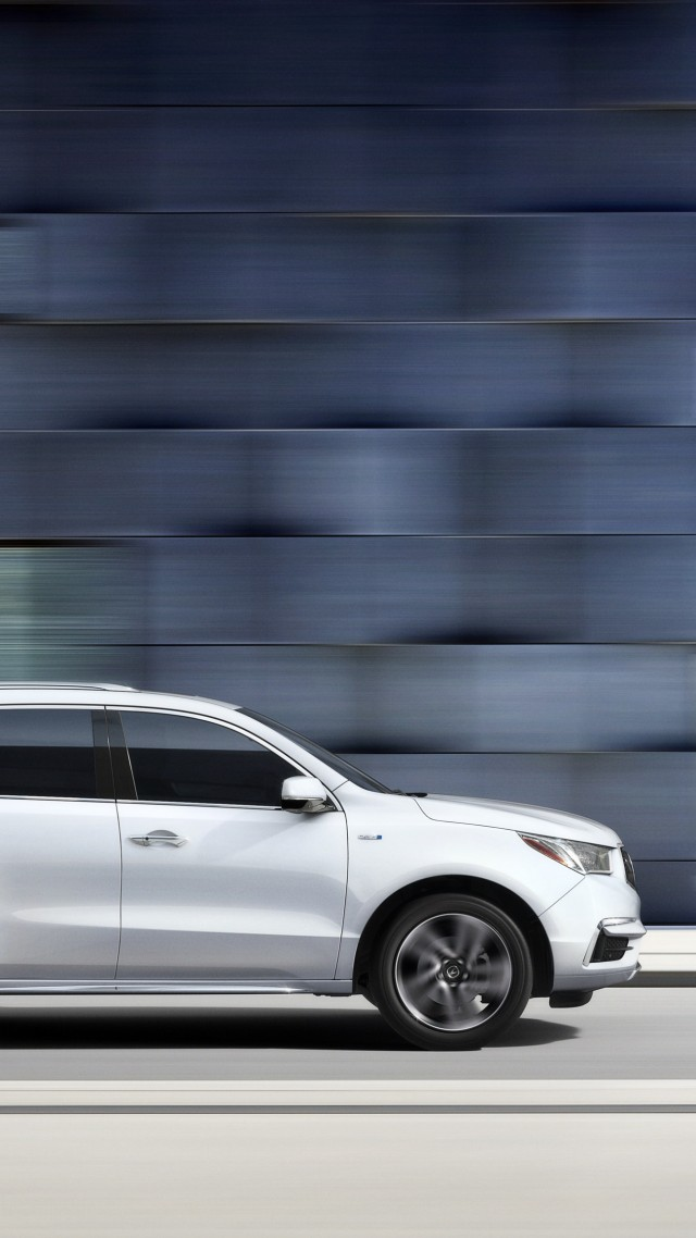 Acura MDX, NYIAS 2016, hybrid, crossover, white (vertical)