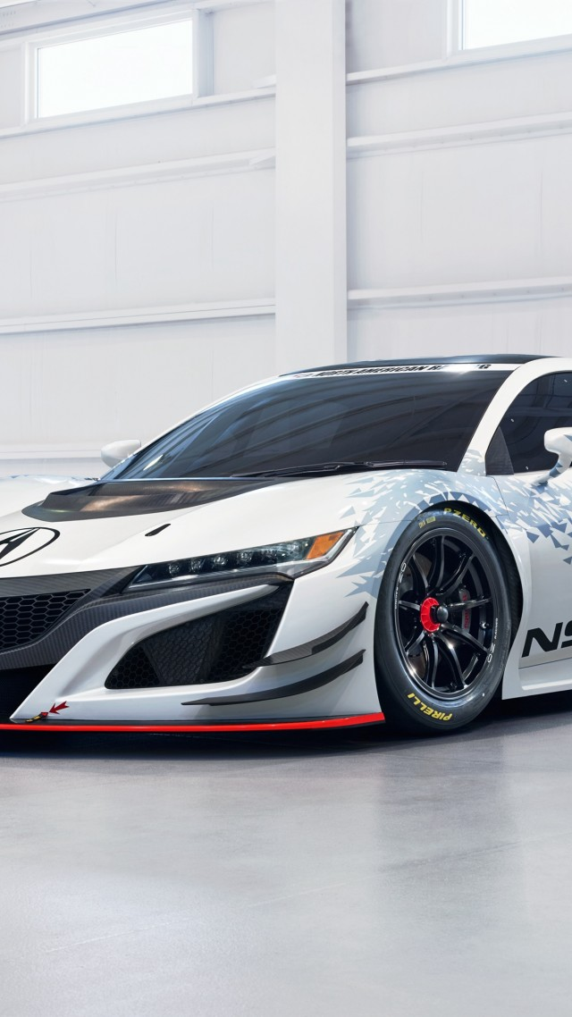 Acura NSX GT 3, NYIAS 2016, white (vertical)