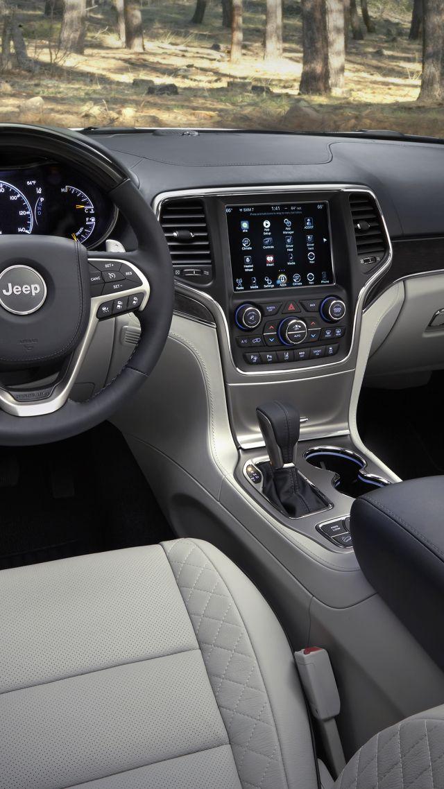 Wallpaper Jeep Grand Cherokee Summit Nyias 2016 Interior Cars