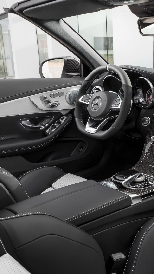 Wallpaper Mercedes Amg C 63 S Cabriolet Nyias 2016 Interior Cars