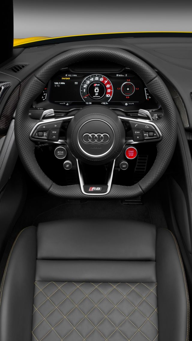 ... Audi R8, NYIAS 2016, supercar, interior (vertical)