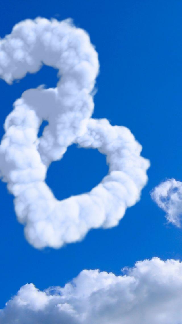 wallpaper heart 5k 4k wallpaper 8k cloud blue sky