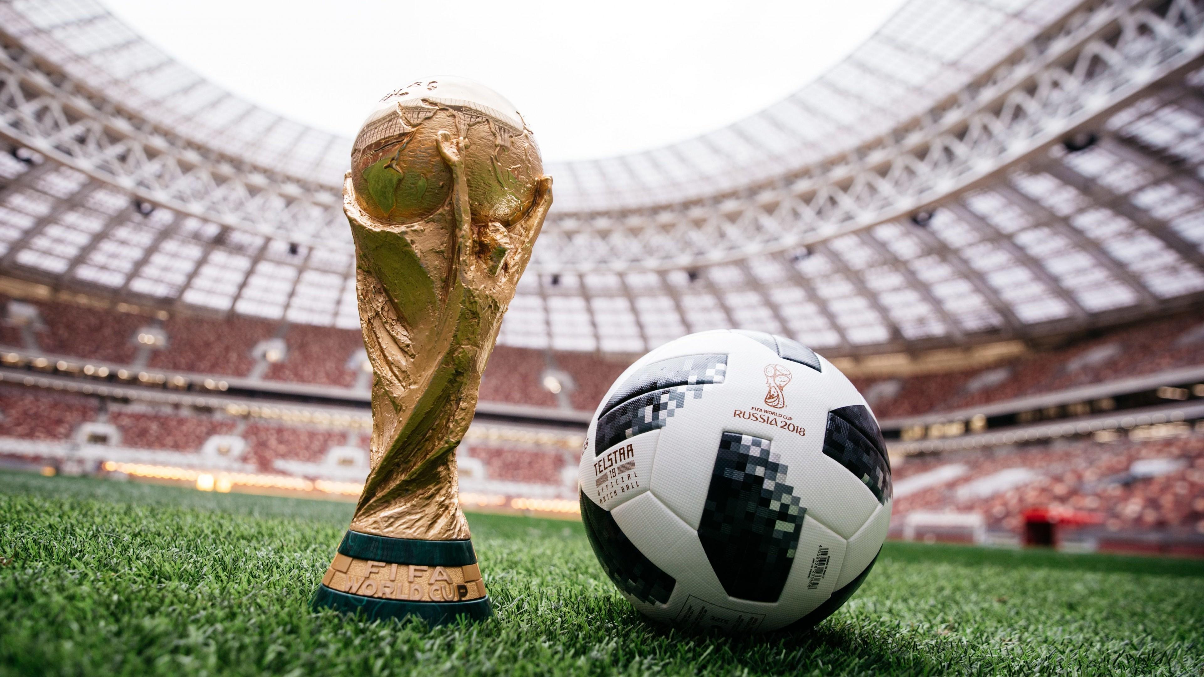 Wallpaper 2018 Fifa World Cup Russia Ball Soccer 5k Sport