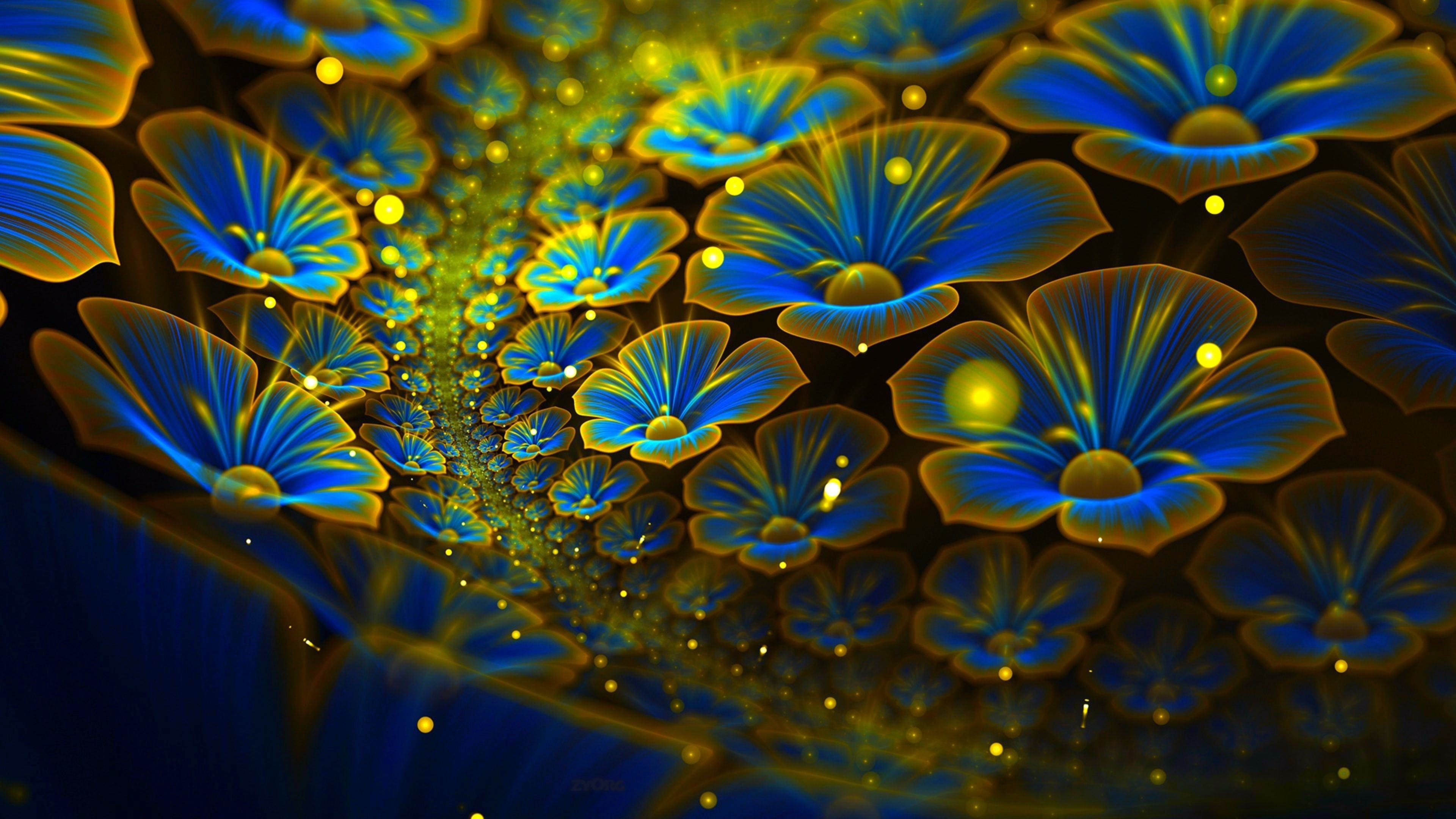 abstract wallpaper os abstract flowers 4k 5k android