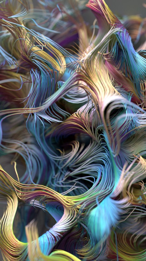 abstrakciya wallpaper 480x854 abstract lines 3d 12741
