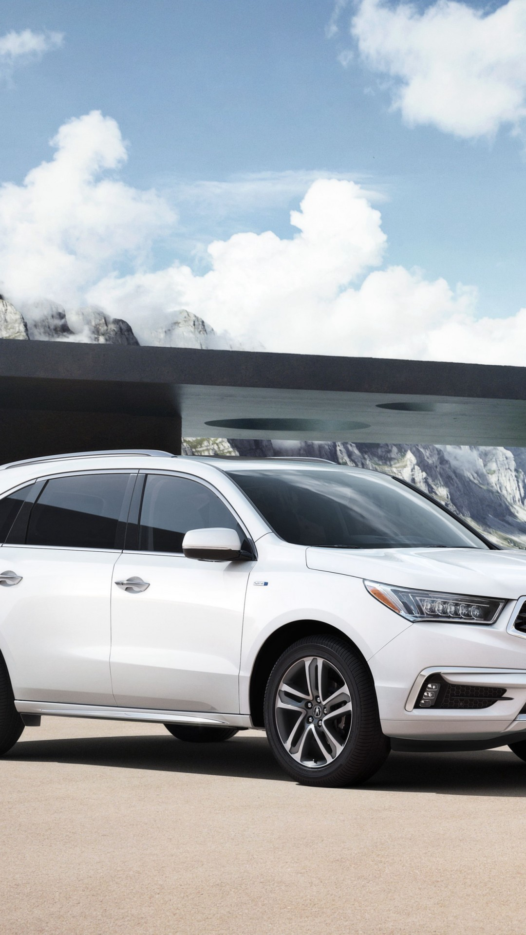 Wallpaper Acura Mdx Nyias 2016 Hybrid Crossover White