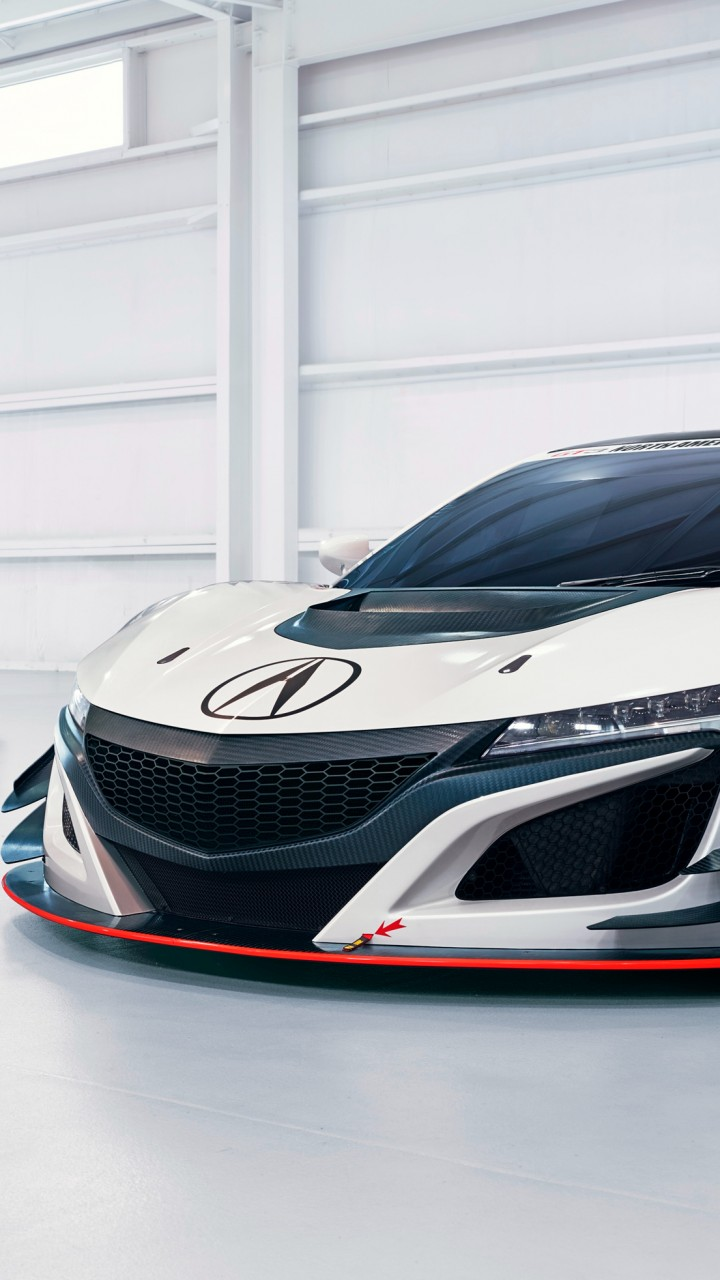 Wallpaper Acura NSX GT 3, NYIAS 2016, White, Cars & Bikes
