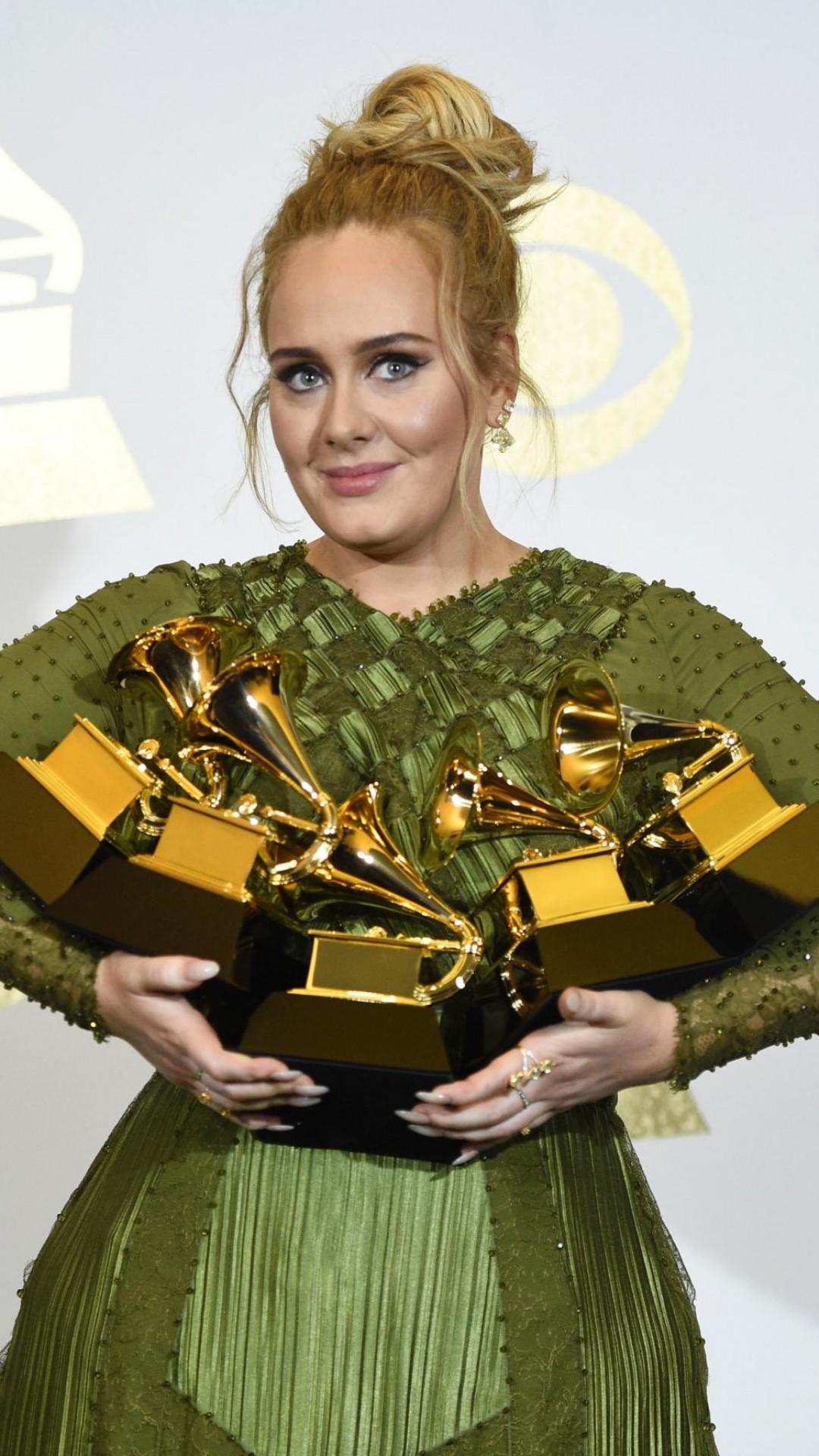 Wallpaper Adele Grammy 2017 Grammy Awards Winner Dress