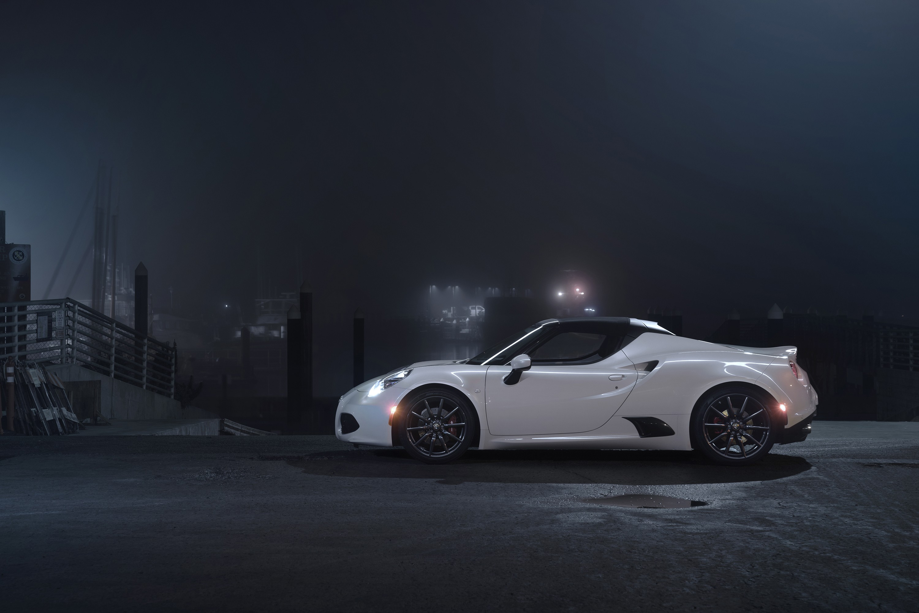 Wallpaper Alfa Romeo 4c Coupe Sportcar White Cars