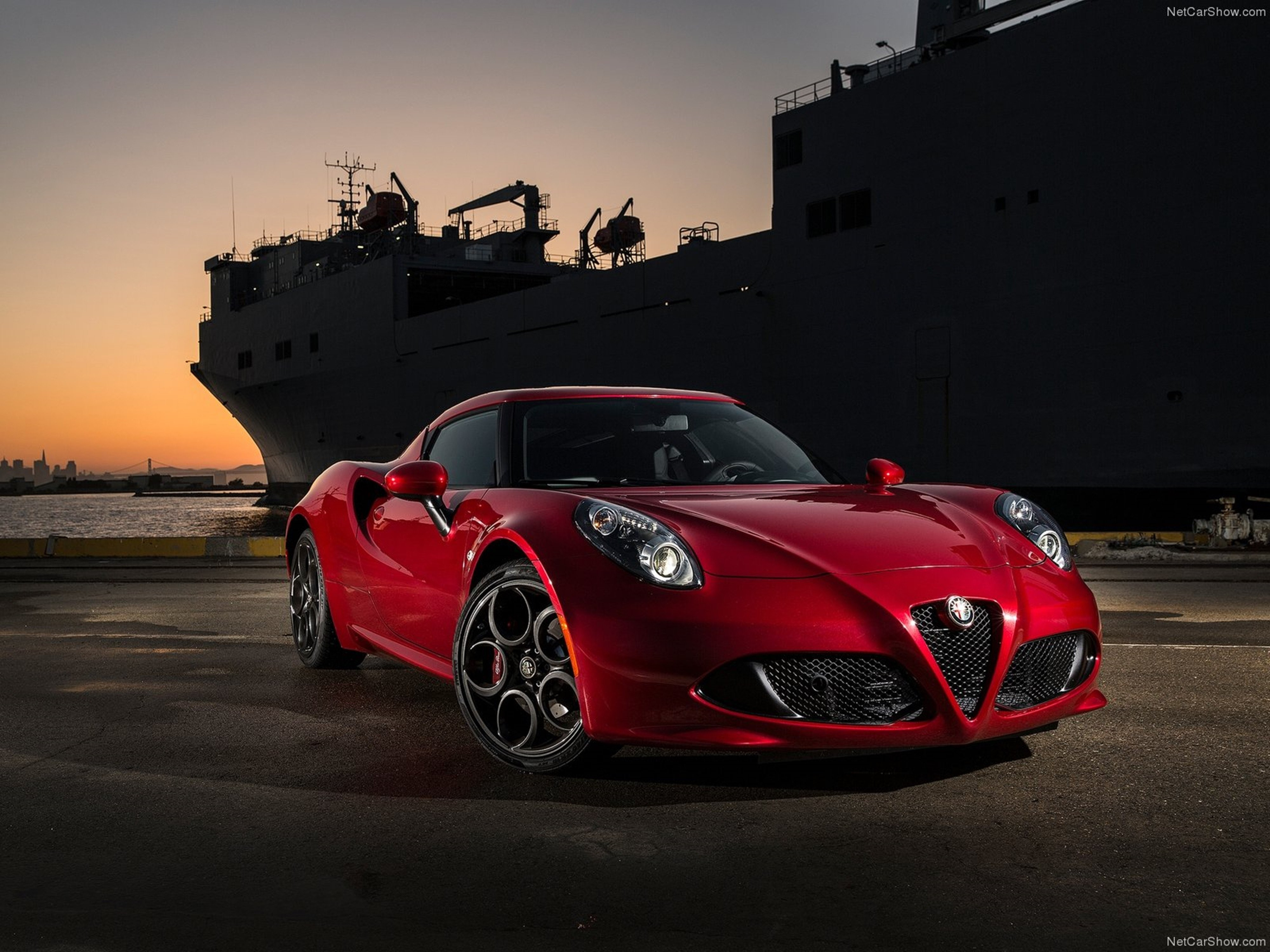 wallpaper alfa romeo 4c coupe sportcar red cars. Black Bedroom Furniture Sets. Home Design Ideas