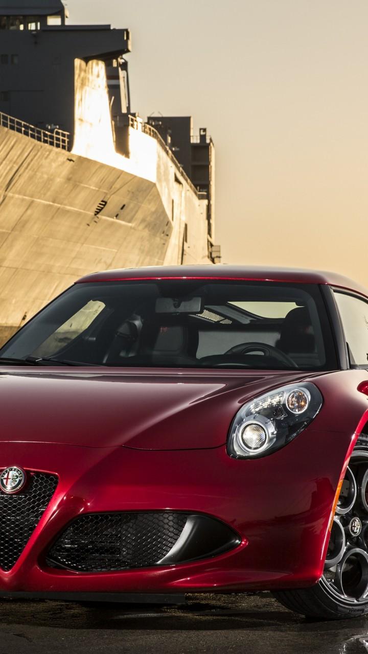 Alfa Romeo 4c >> Wallpaper Alfa Romeo 4C, sports car, Type 960, Alfa Romeo, supercar, red, front, harbor, vessel ...