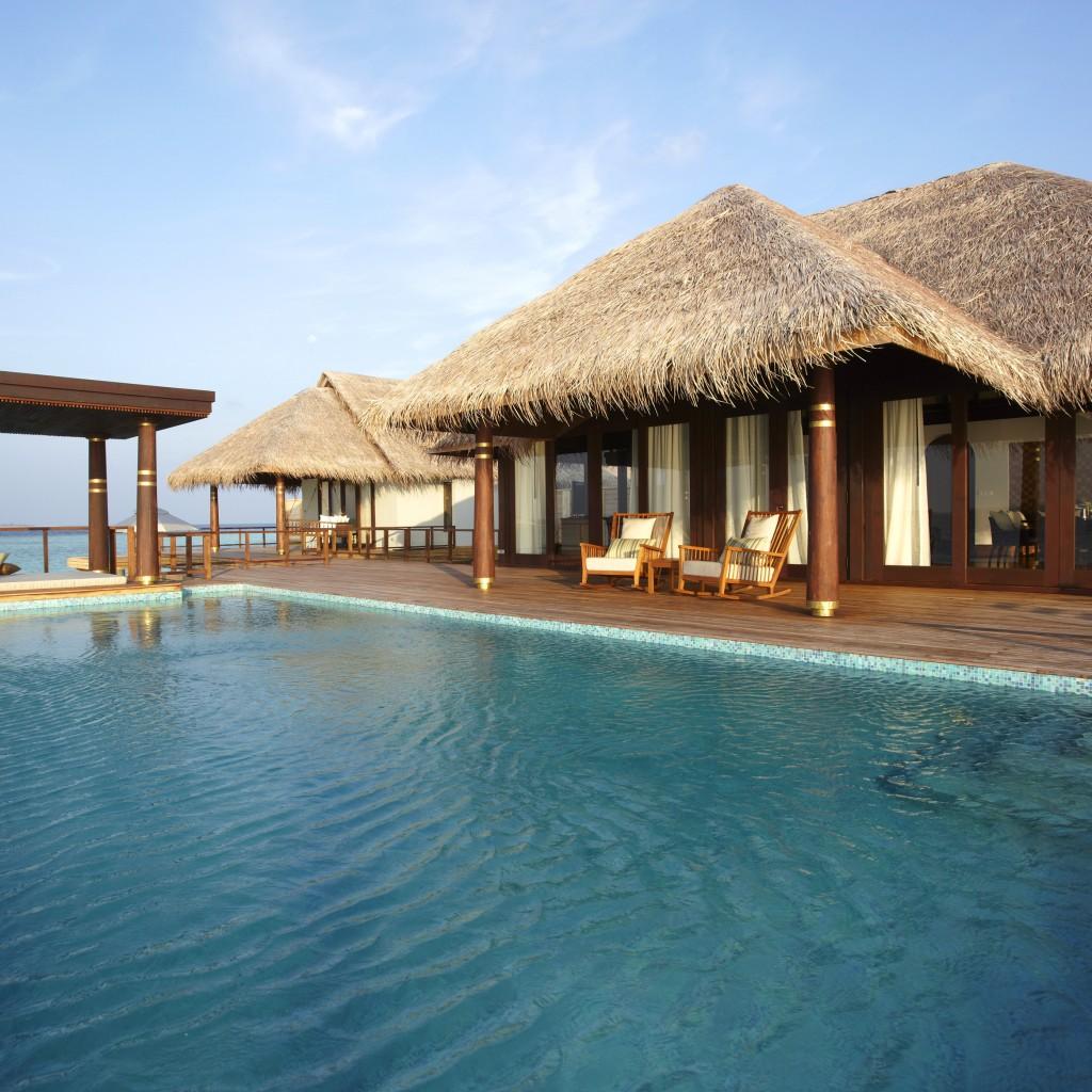 Wallpaper Anantara Kihavah Villas Maldives Resort Pool Ocean Sea Water Travel Booking Vacation Hotel Sky Blue Worlds Best Diving Sites