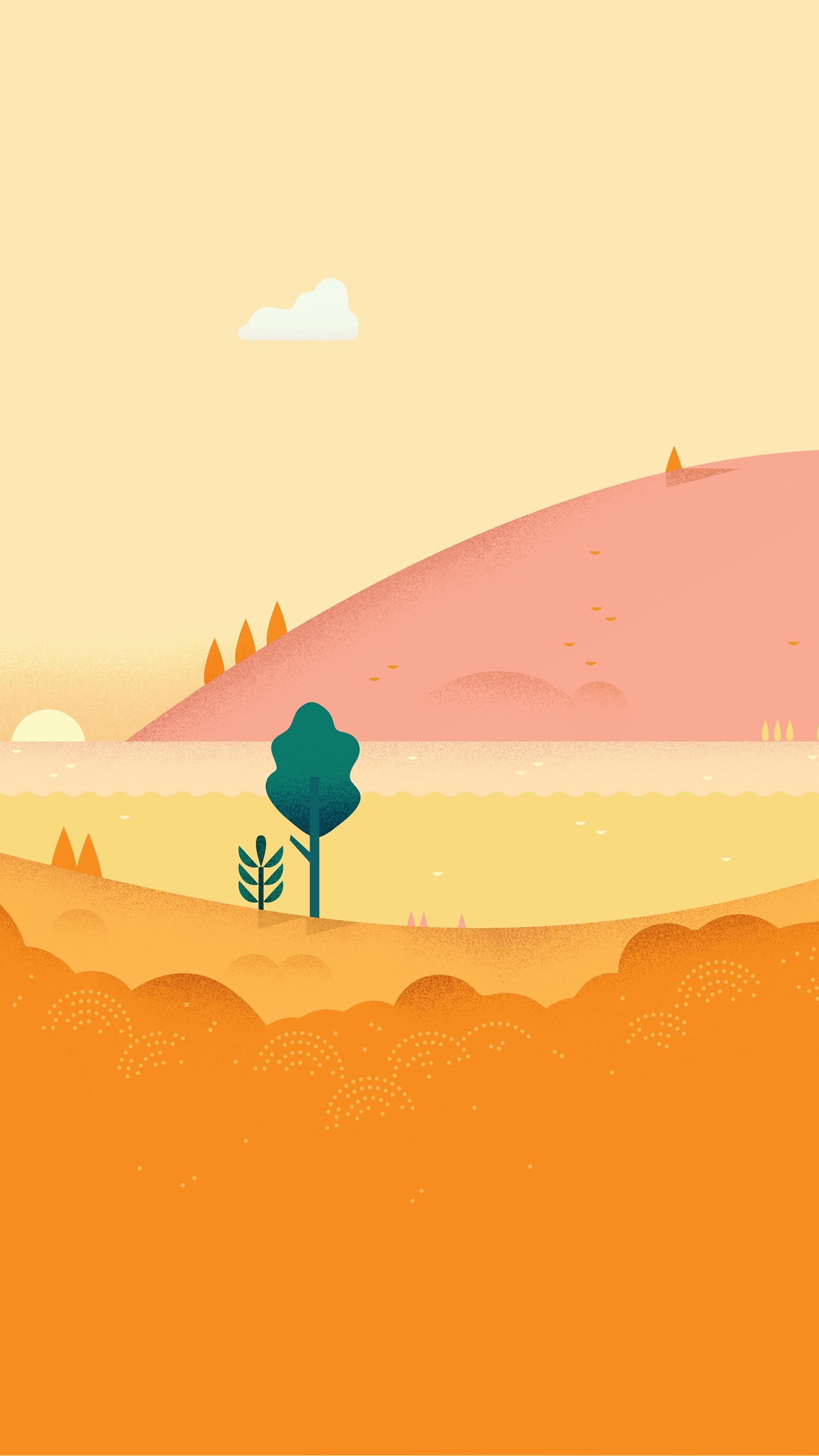 android 2160x3840 5k 4k hd wallpaper pattern landscape orange yellow 3431
