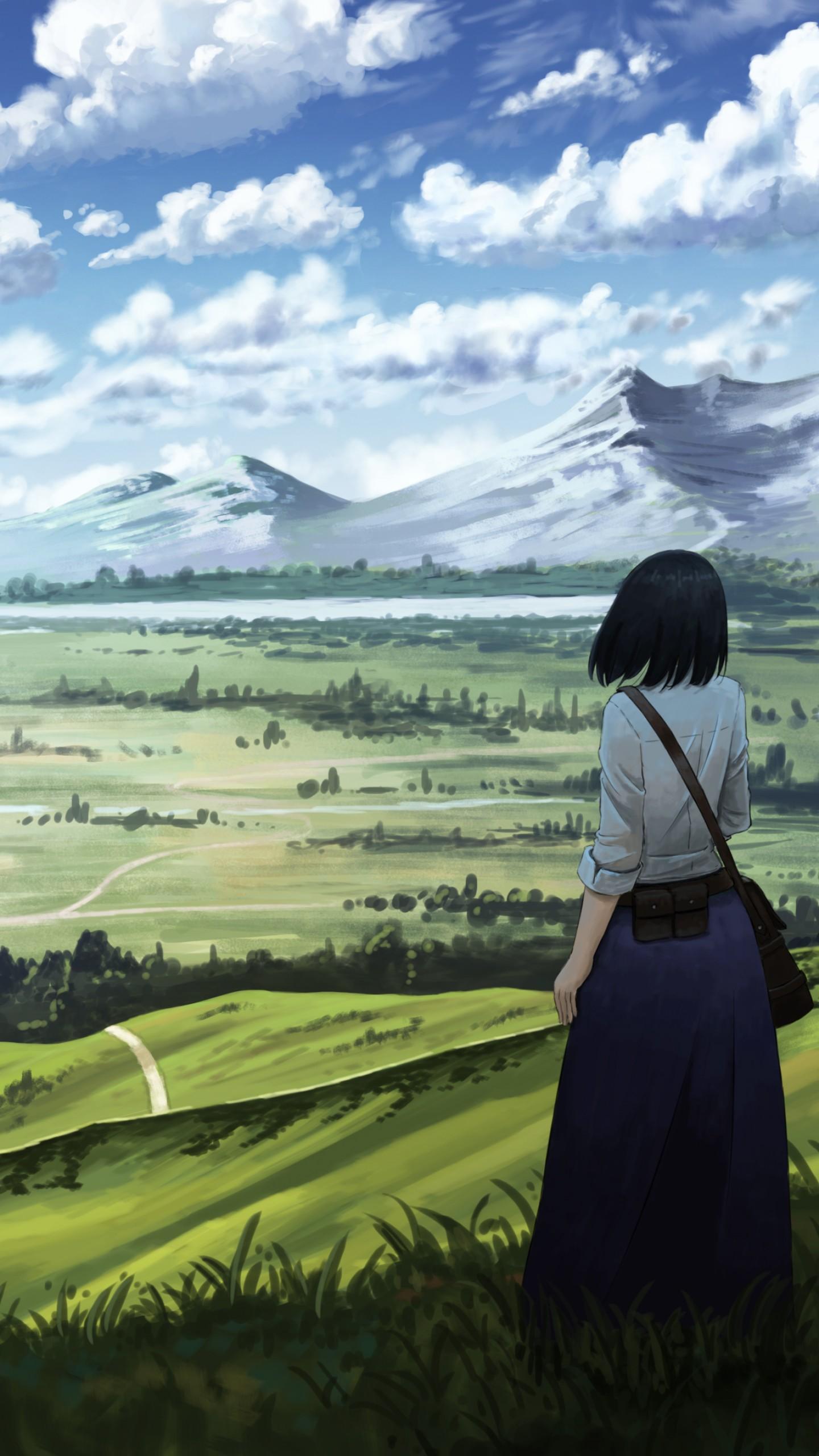 Wallpaper Anime, Girl, Castle, 4K, Art 18919-6677