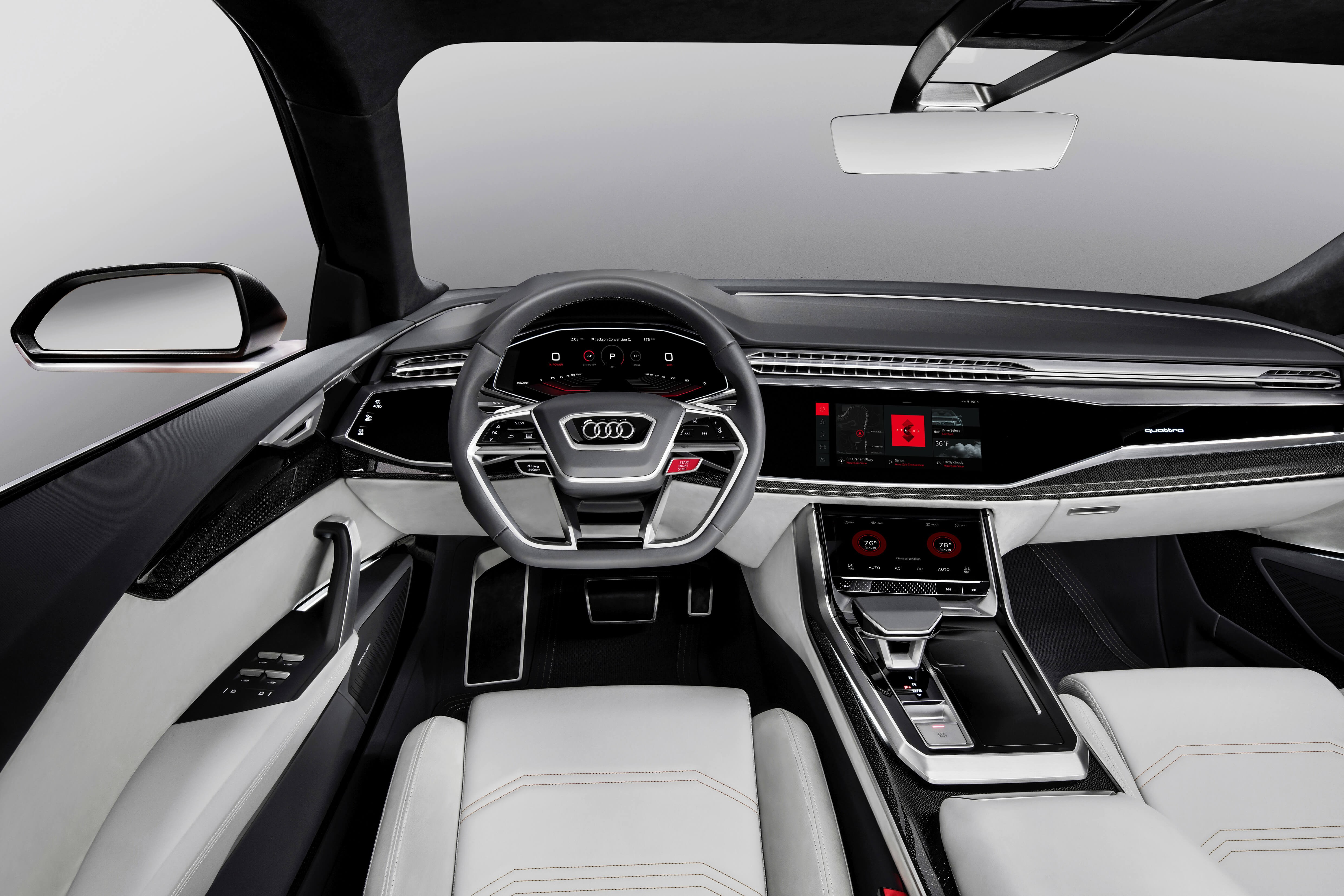 wallpaper audi q8 2018 cars interior 4k cars bikes 15842. Black Bedroom Furniture Sets. Home Design Ideas