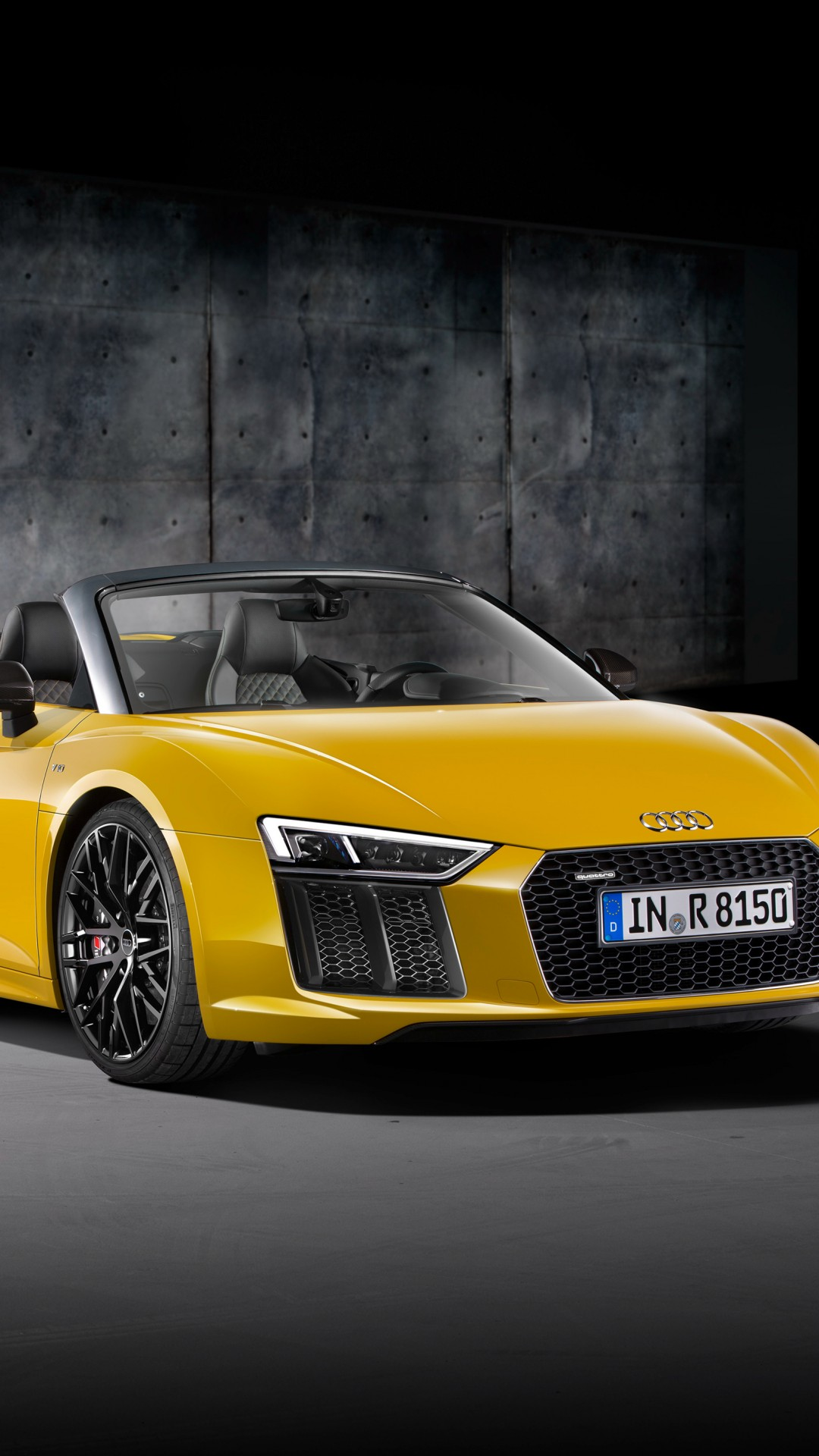 Wallpaper Audi R8 Nyias 2016 Supercar Yellow Cars