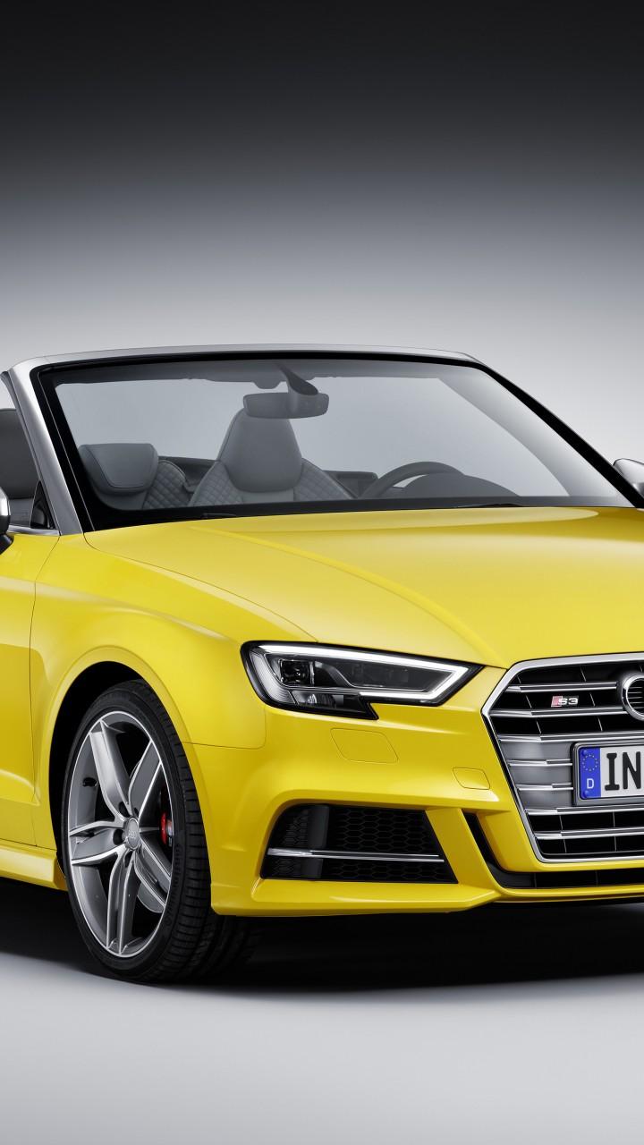wallpaper audi s3 cabriolet yellow cars bikes 10261. Black Bedroom Furniture Sets. Home Design Ideas