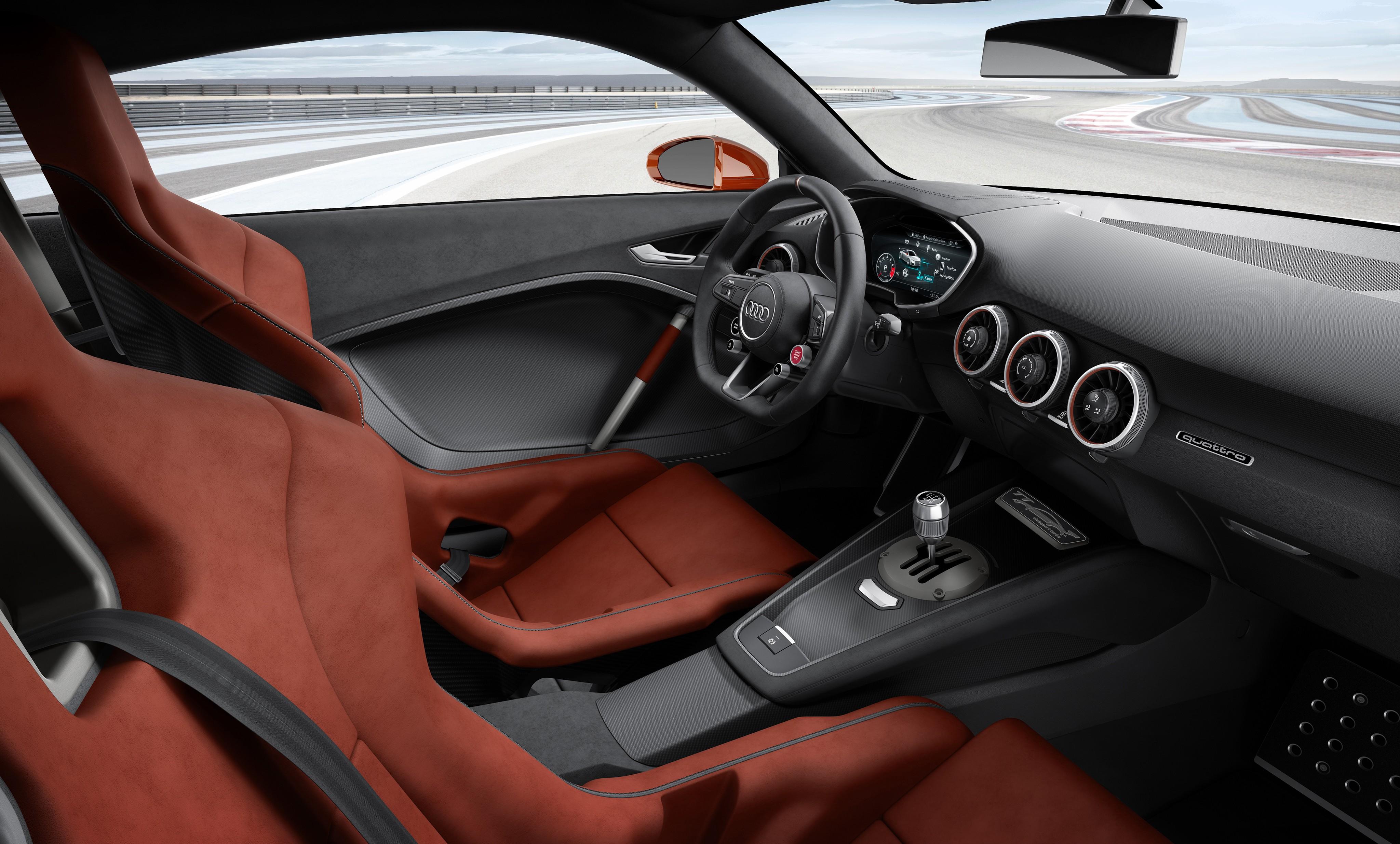 wallpaper audi tt clubsport turbo concept audi sports car racing interior cars bikes 7495. Black Bedroom Furniture Sets. Home Design Ideas