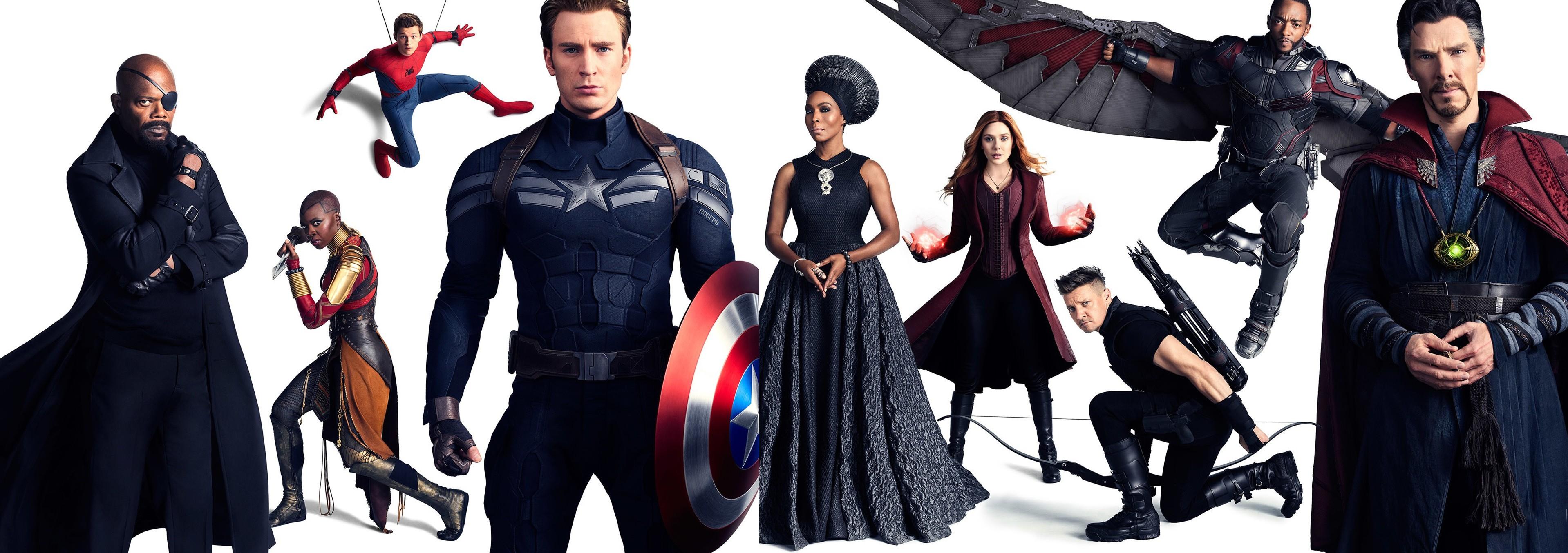 wallpaper avengers: infinity war, captain america, spiderman