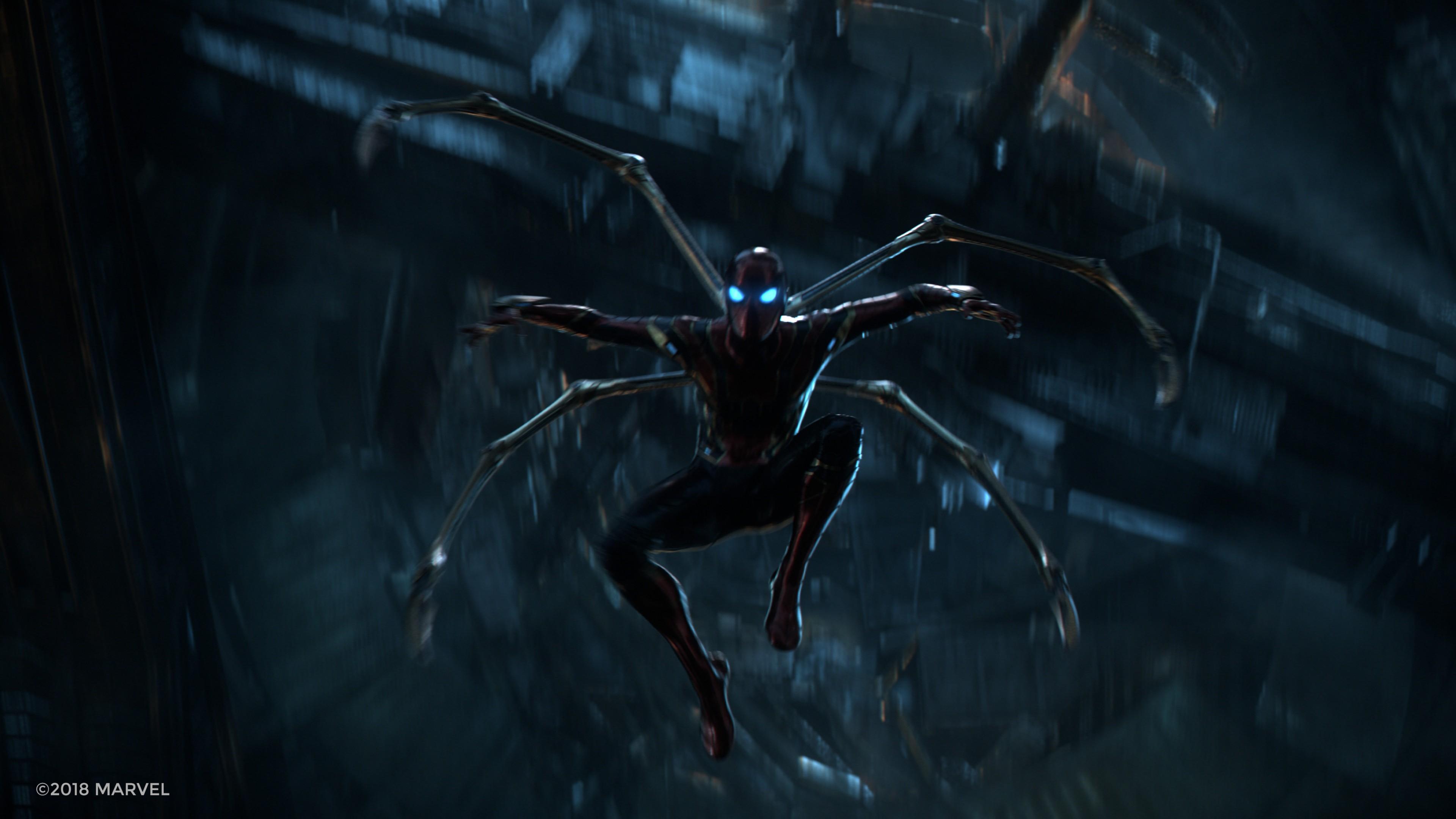 wallpaper avengers infinity war iron spider 4k movies