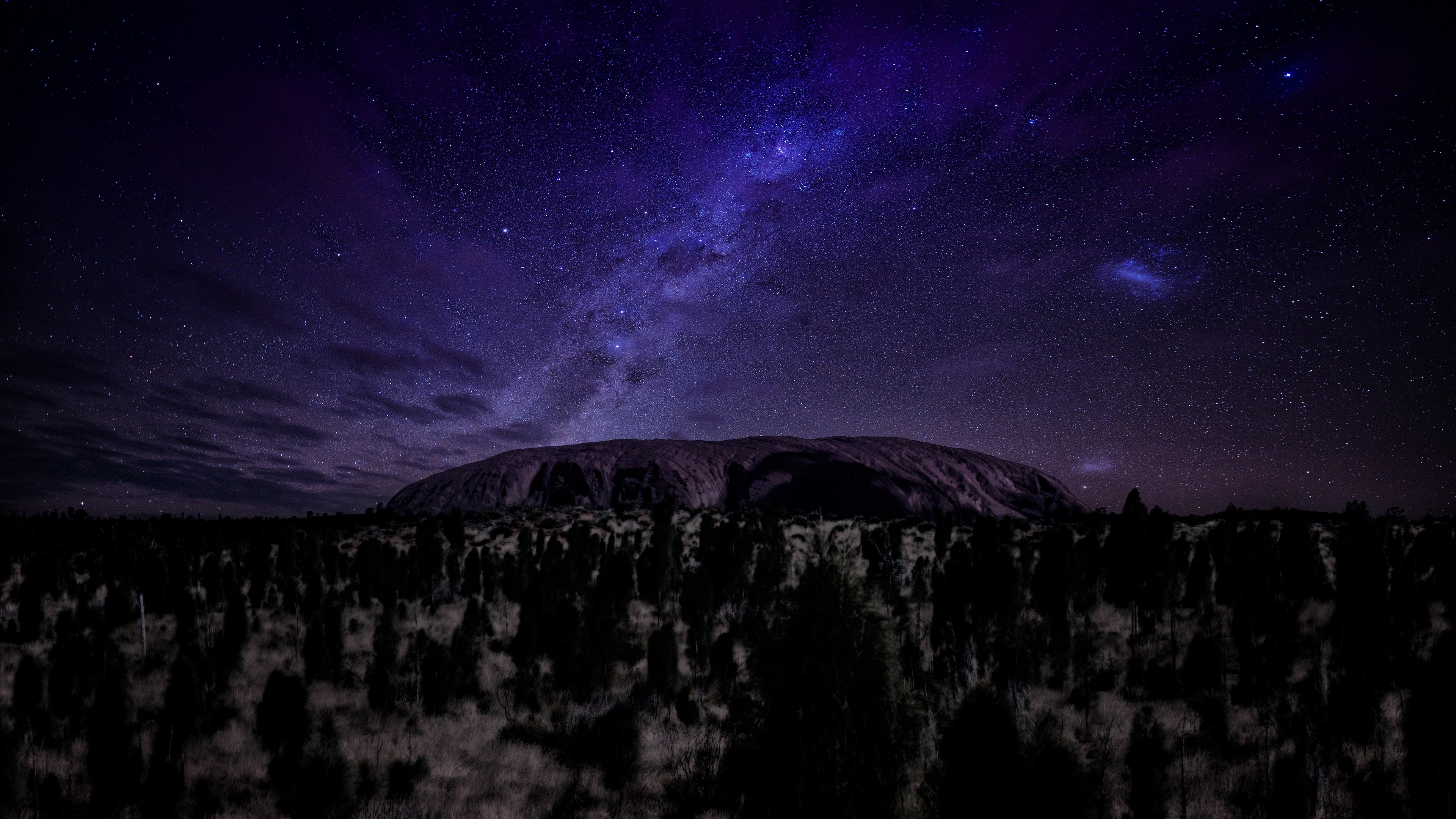 Wallpaper Ayers 5k 4k Wallpaper Mountains Night Stars