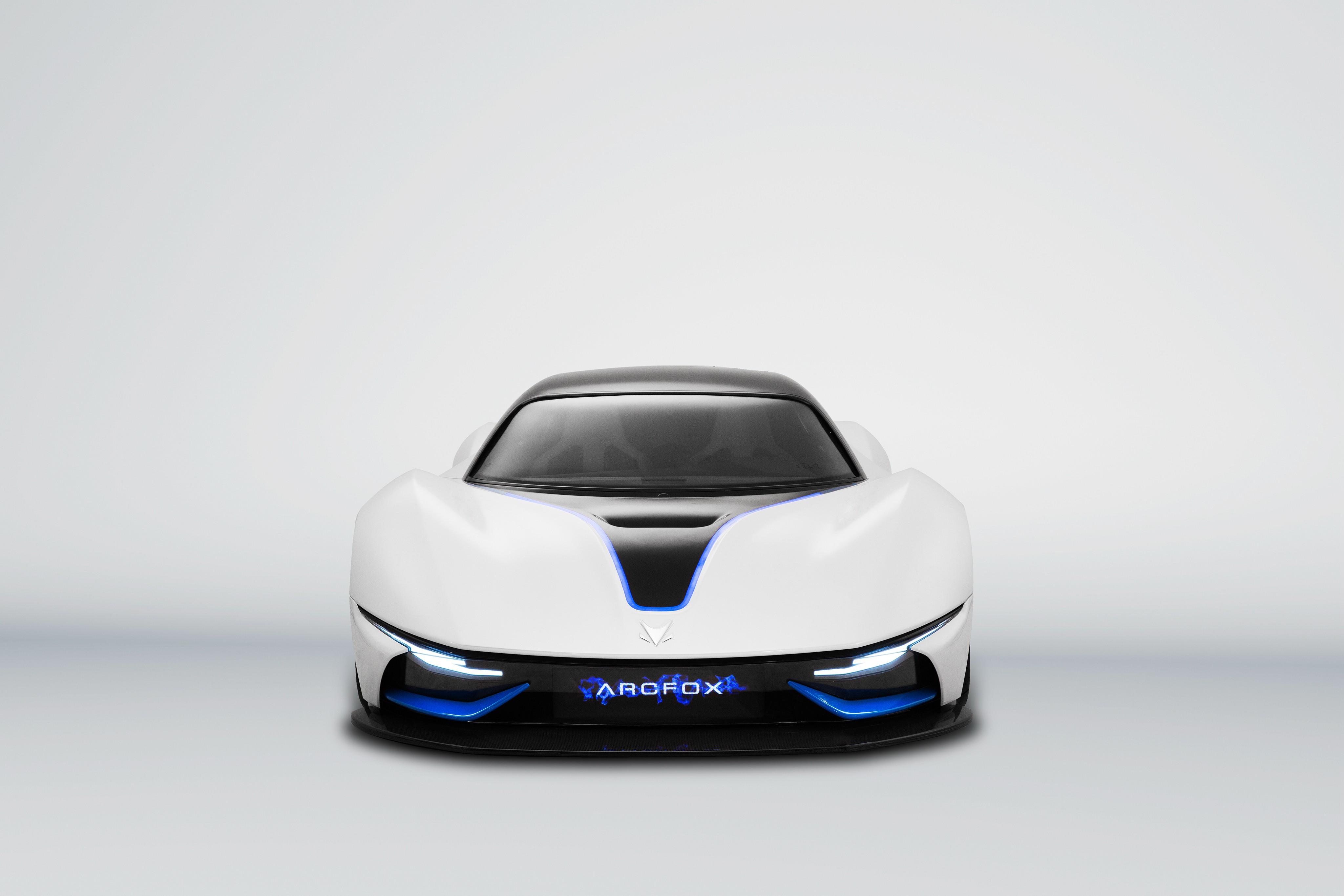 Wallpaper BAIC Arcfox-7, supercar, electric cars, white ...