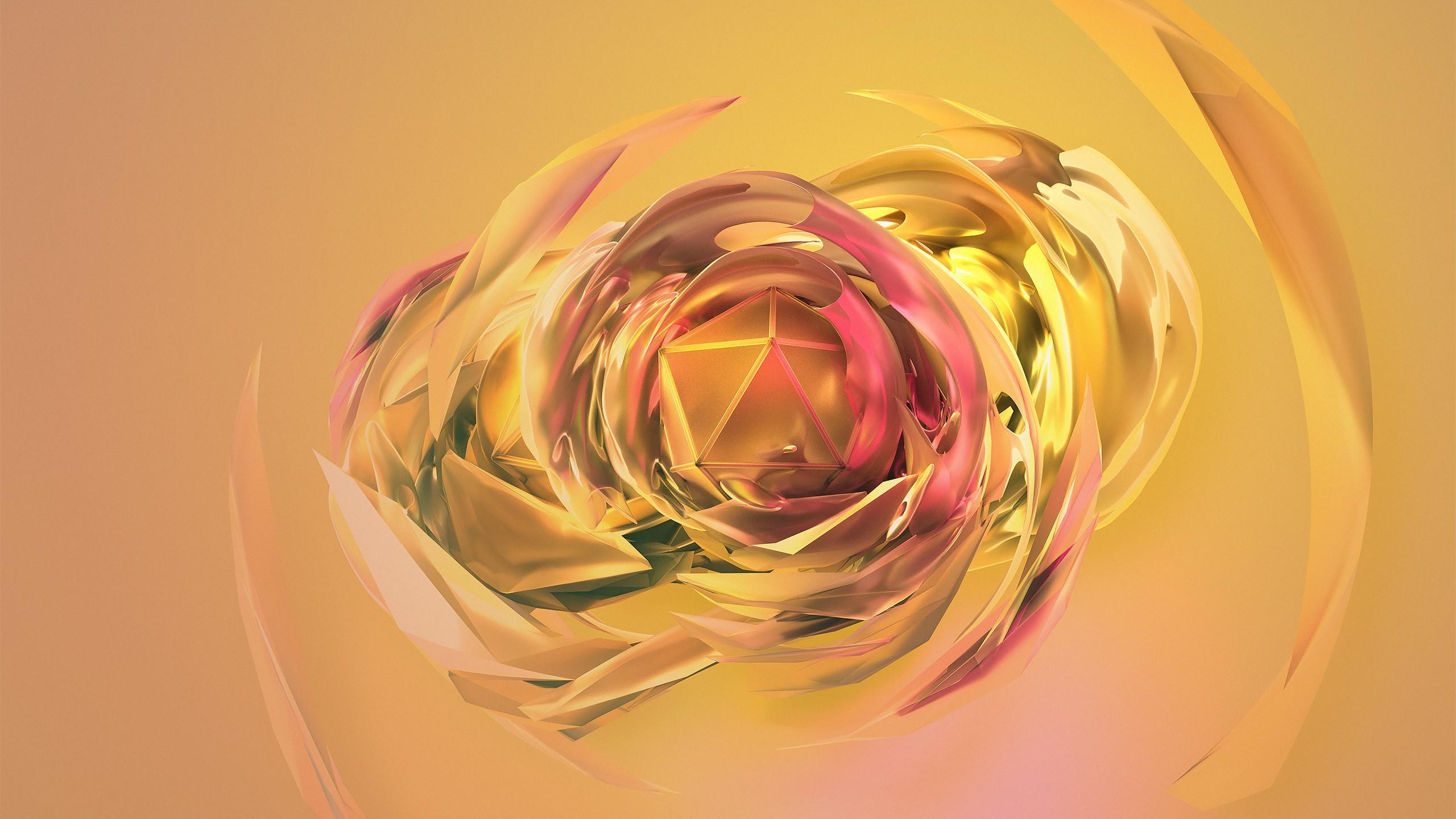 wallpaper banana dreams, 3d, sphere, green, hd, abstract #16379