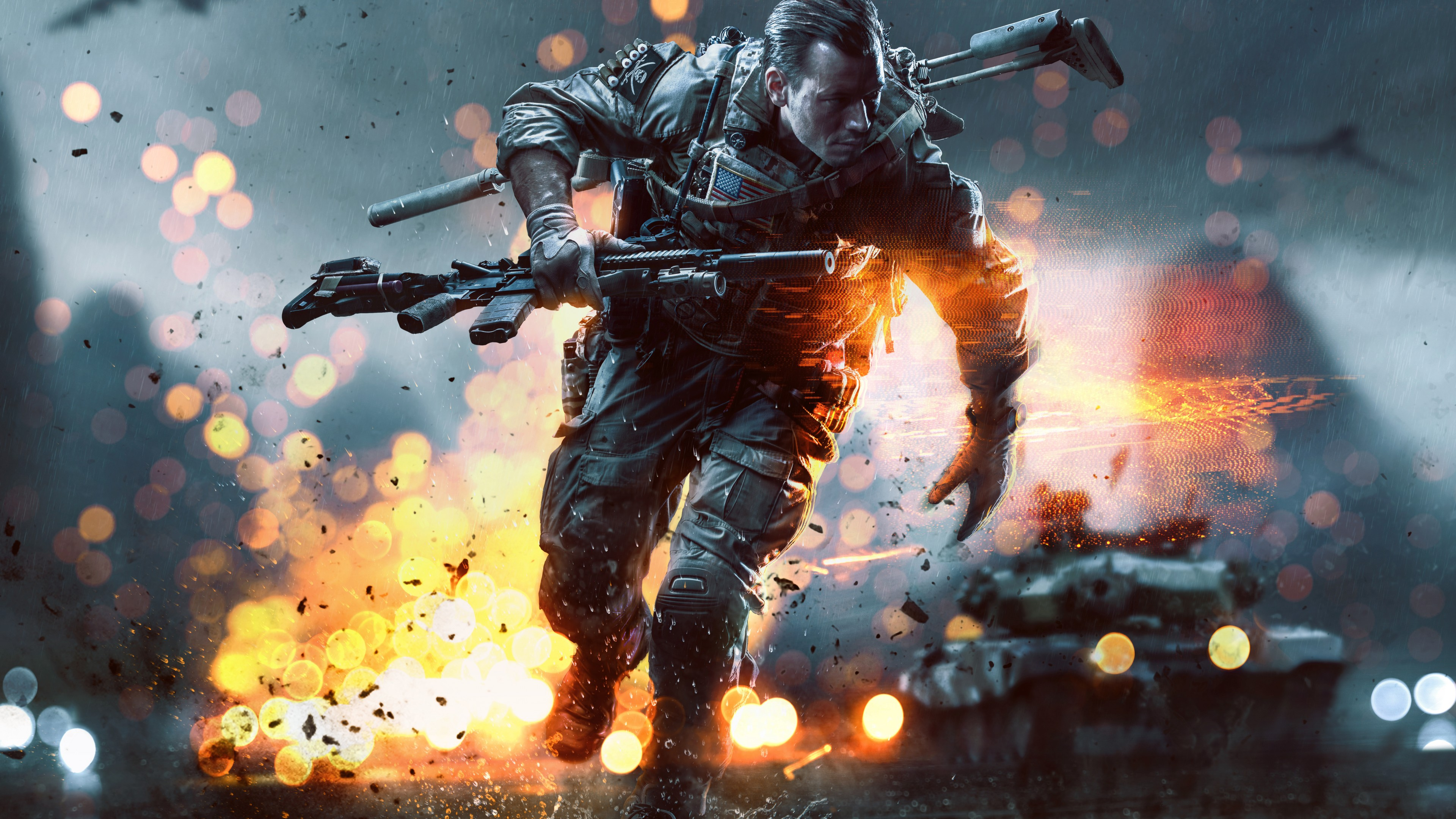 Wallpaper Battlefield Hardline Game Shooter Soldier Gun Fire