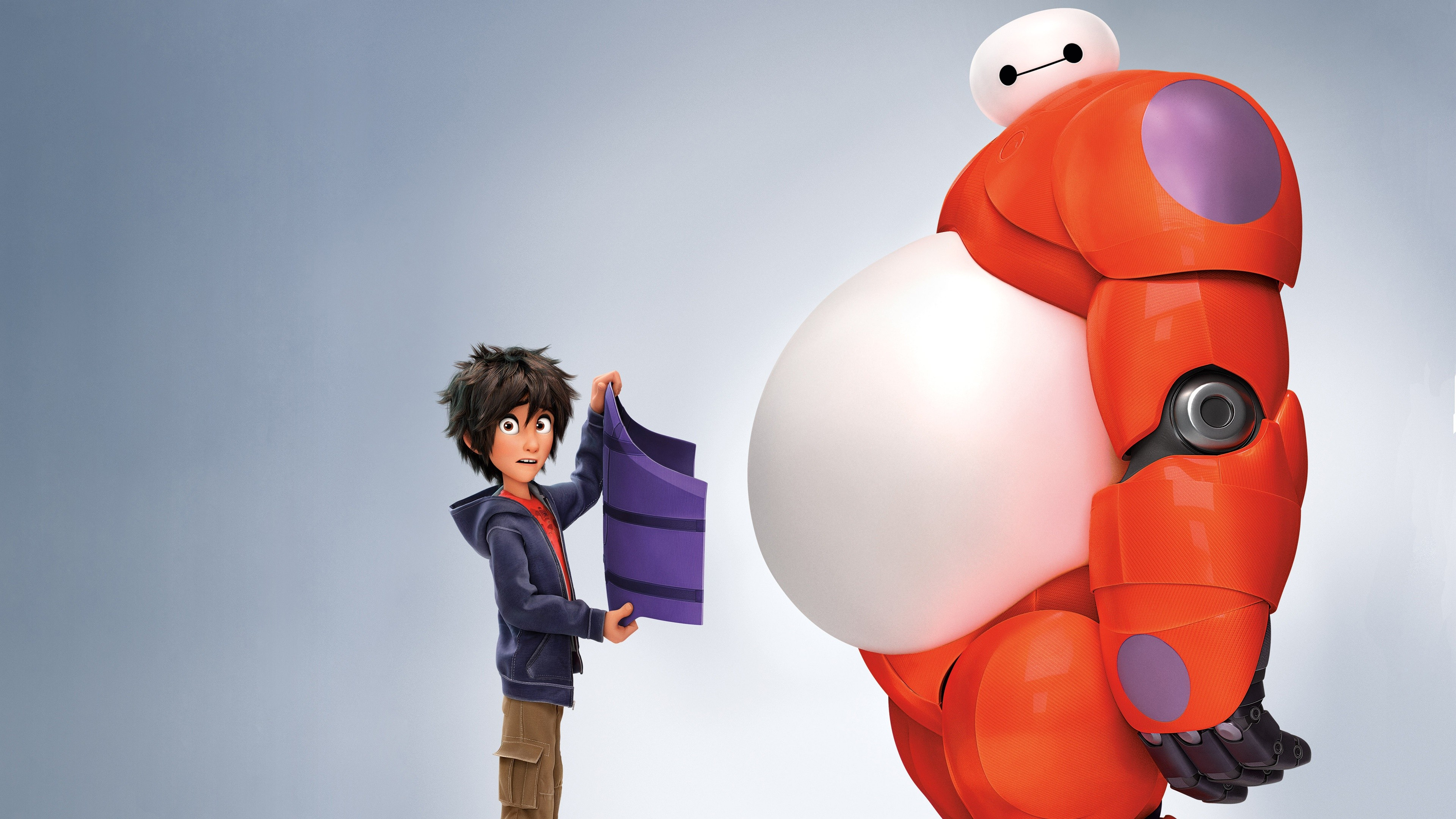 Wallpaper Big Hero 6, cartoon, Baymax, Hiro Hamada ...