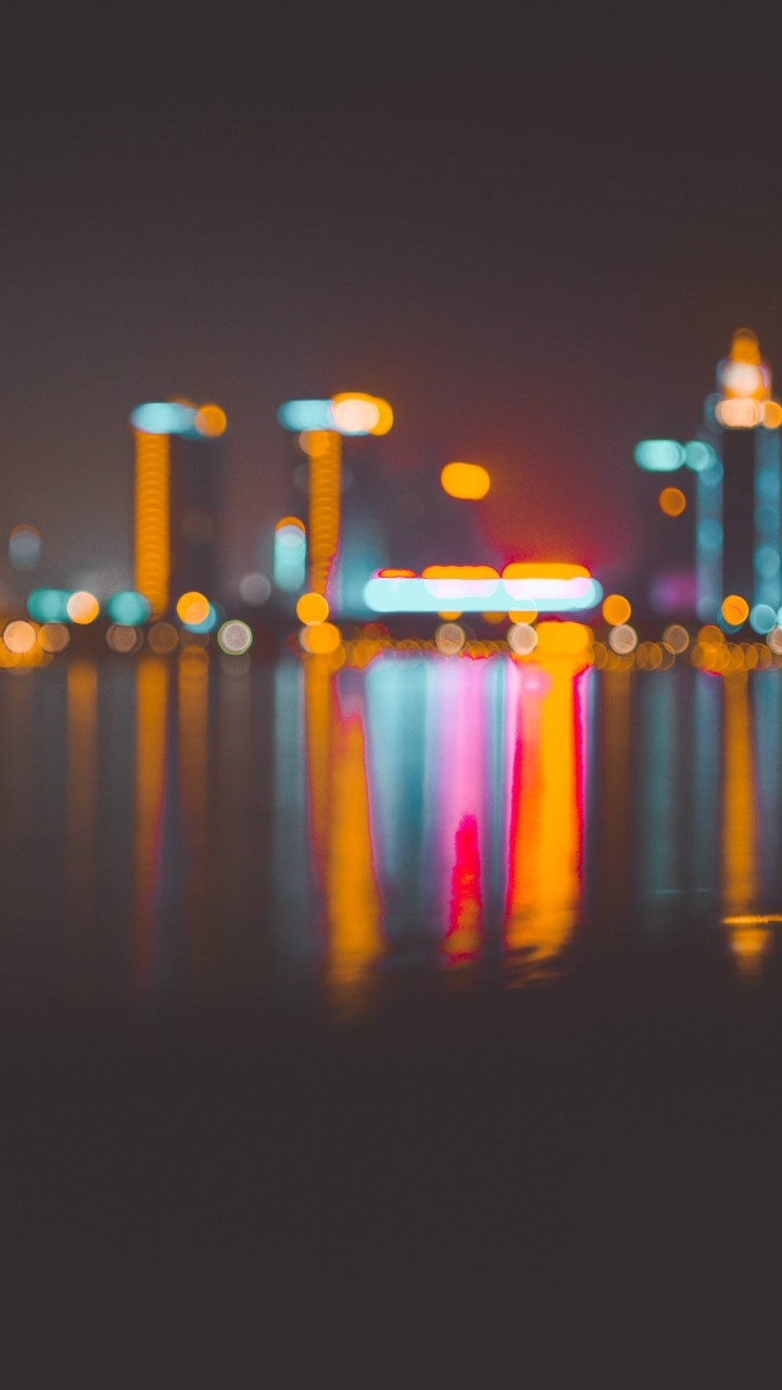 Wallpaper Blur Bokeh City Night 4k 6k Architecture