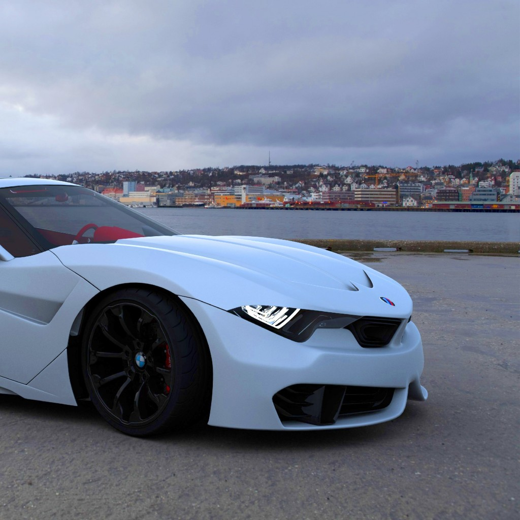 Wallpaper BMW M9 Roadster Coupe White Cars Bikes