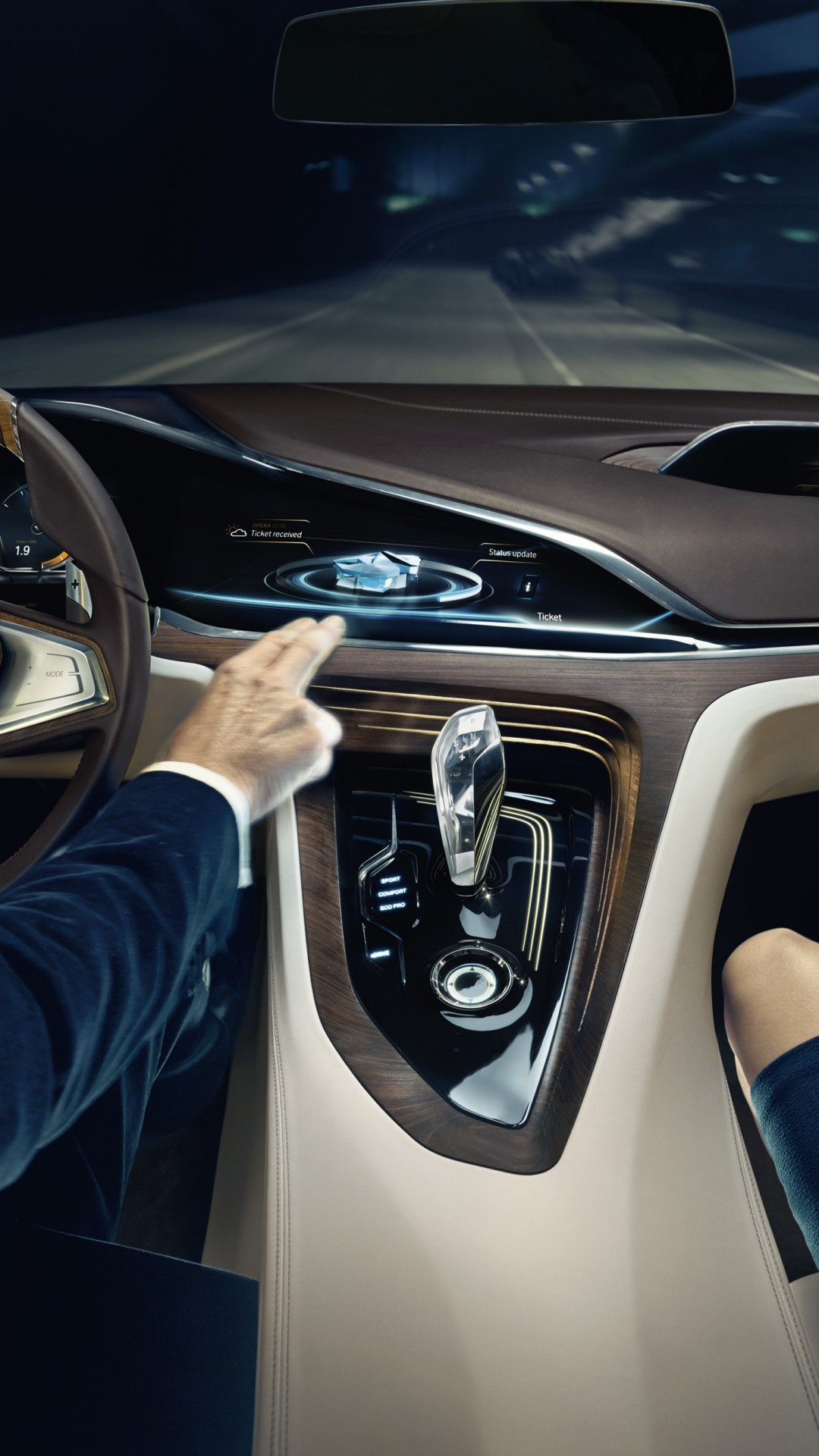 Wallpaper BMW Vision Future Luxury, 9 series, sedan ...