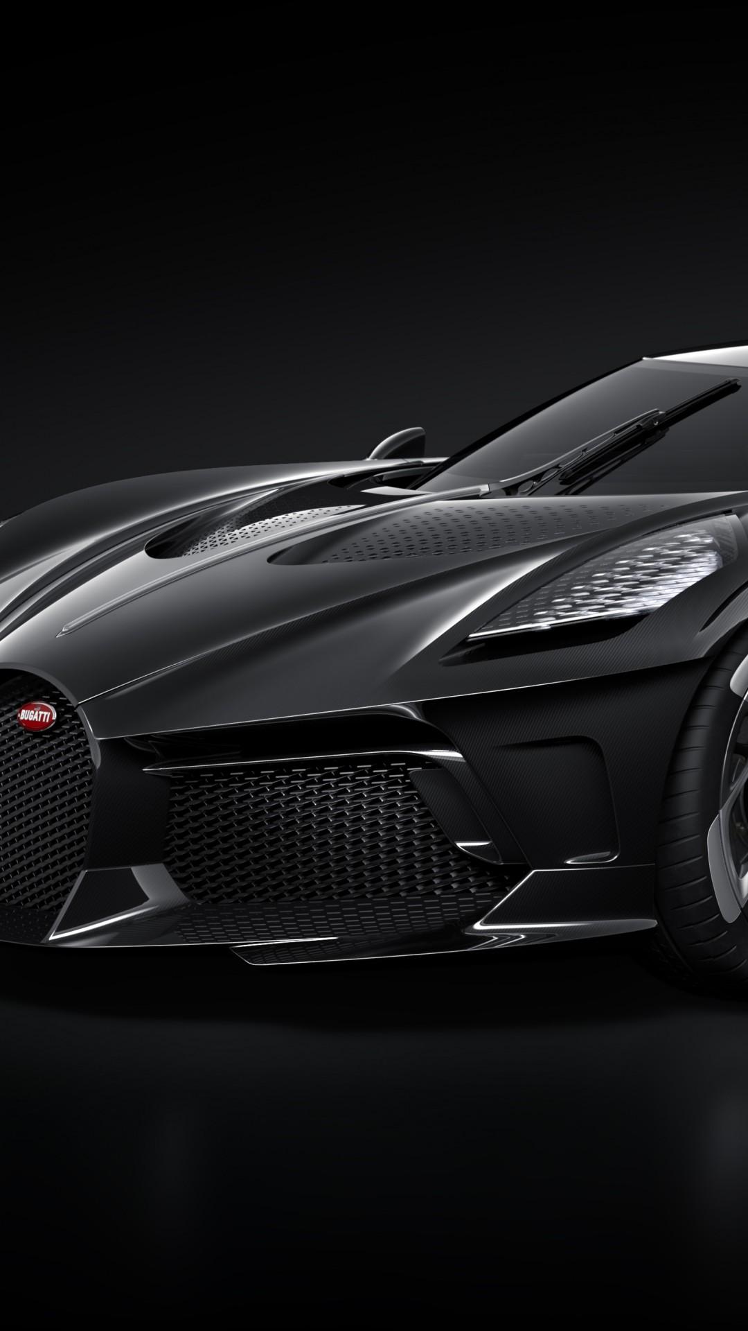 Wallpaper Bugatti La Voiture Noire Geneva Motor Show 2019