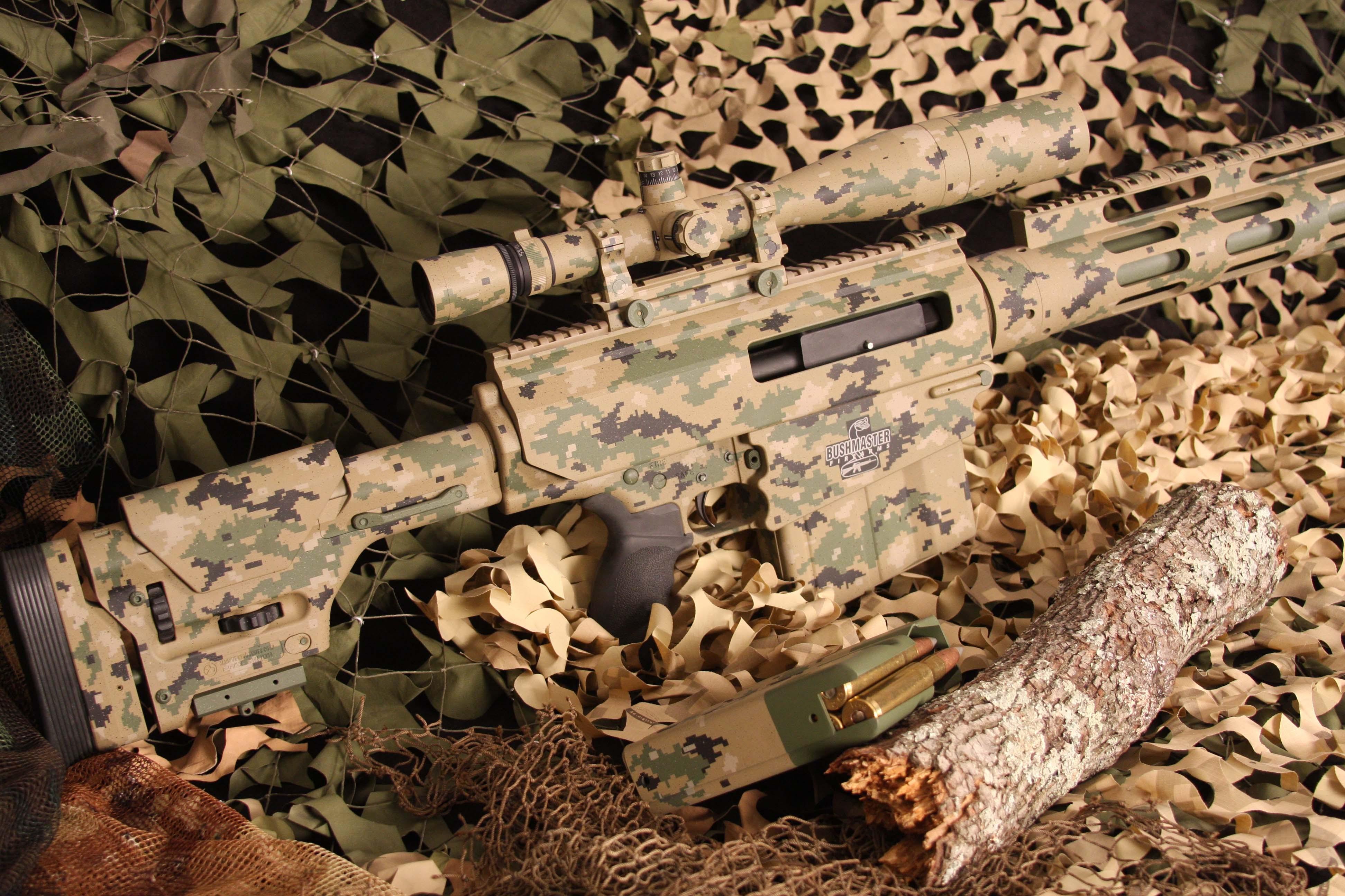 Wallpaper Bushmaster BA50 Sniper Rifle Carbine Scope