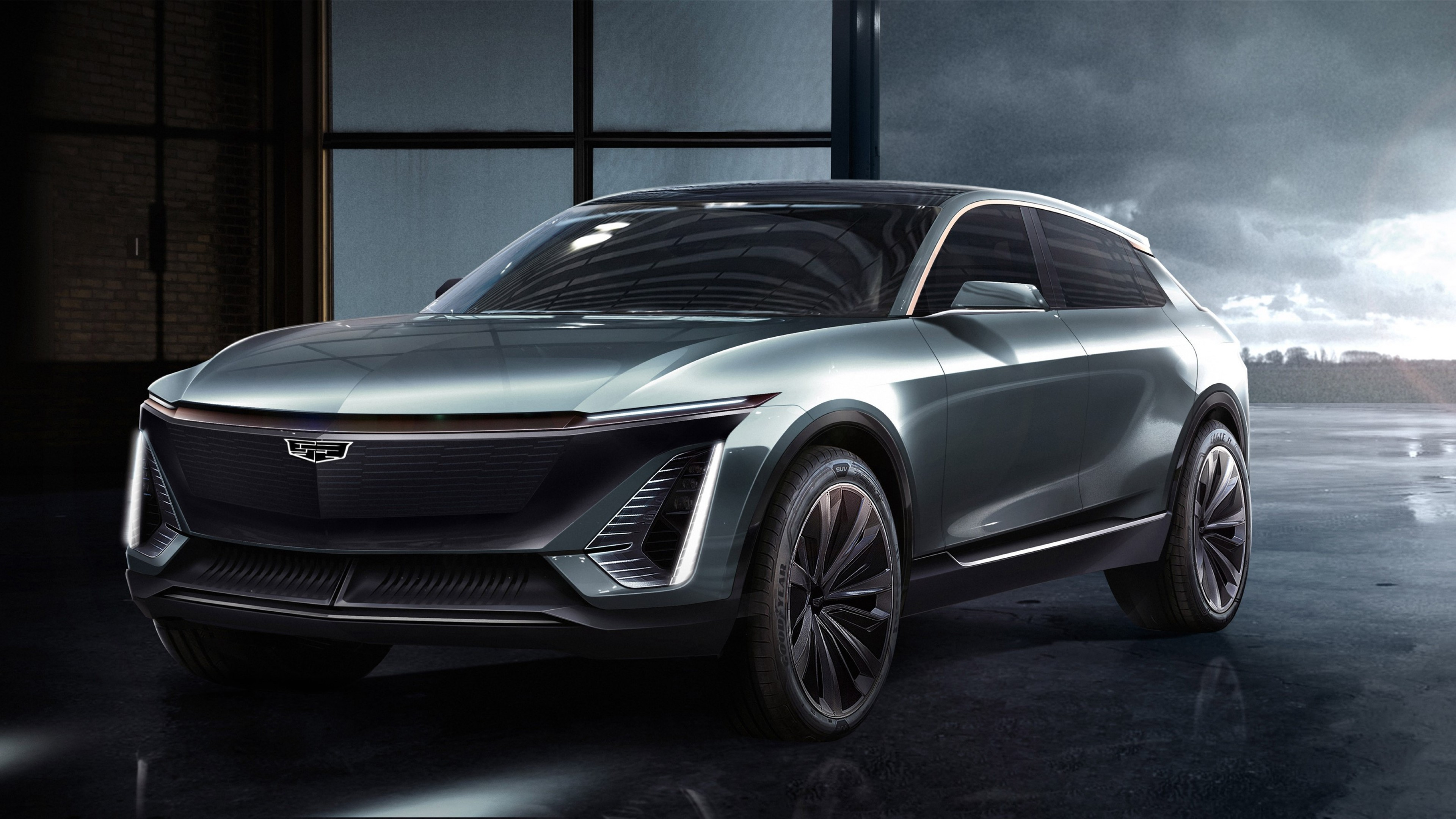 Wallpaper Cadillac EV, SUV, 2019 Cars, 2019 Detroit Auto