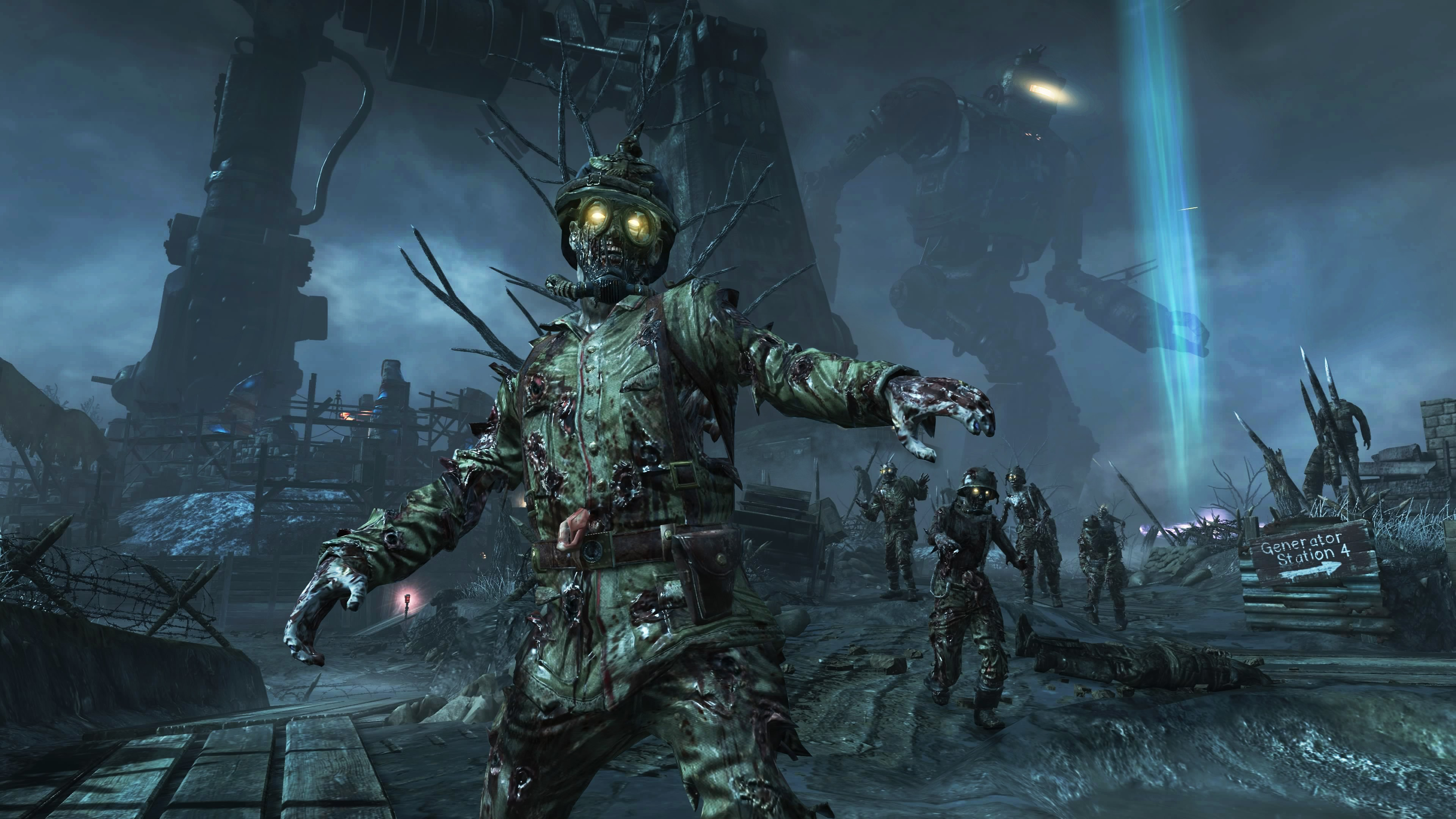 Wallpaper Call of Duty World at War Zombies shooter CoD WaW zombie iOS