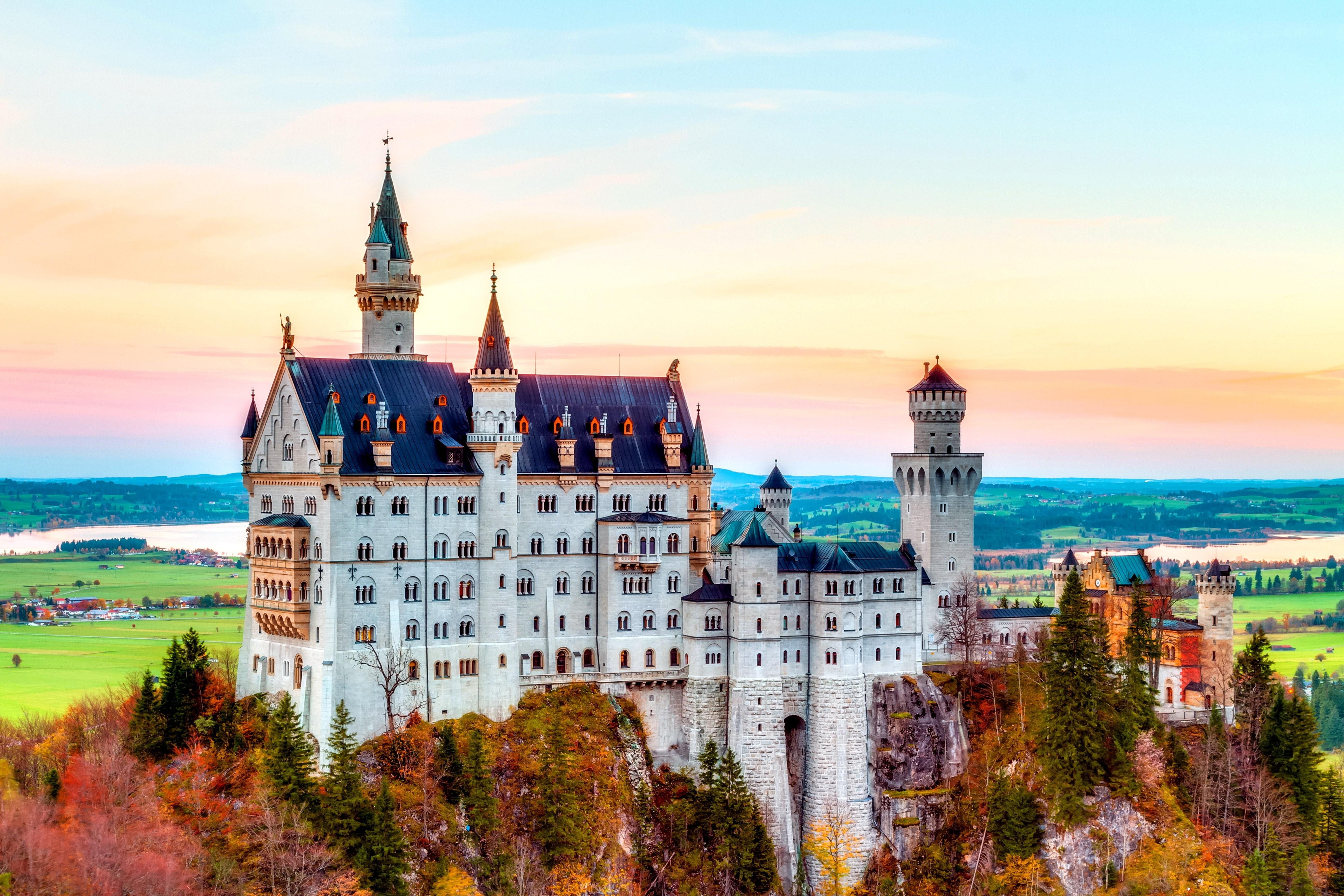 Wallpaper Castle, Neuschwanstein, alps, Autumn, bavaria ...