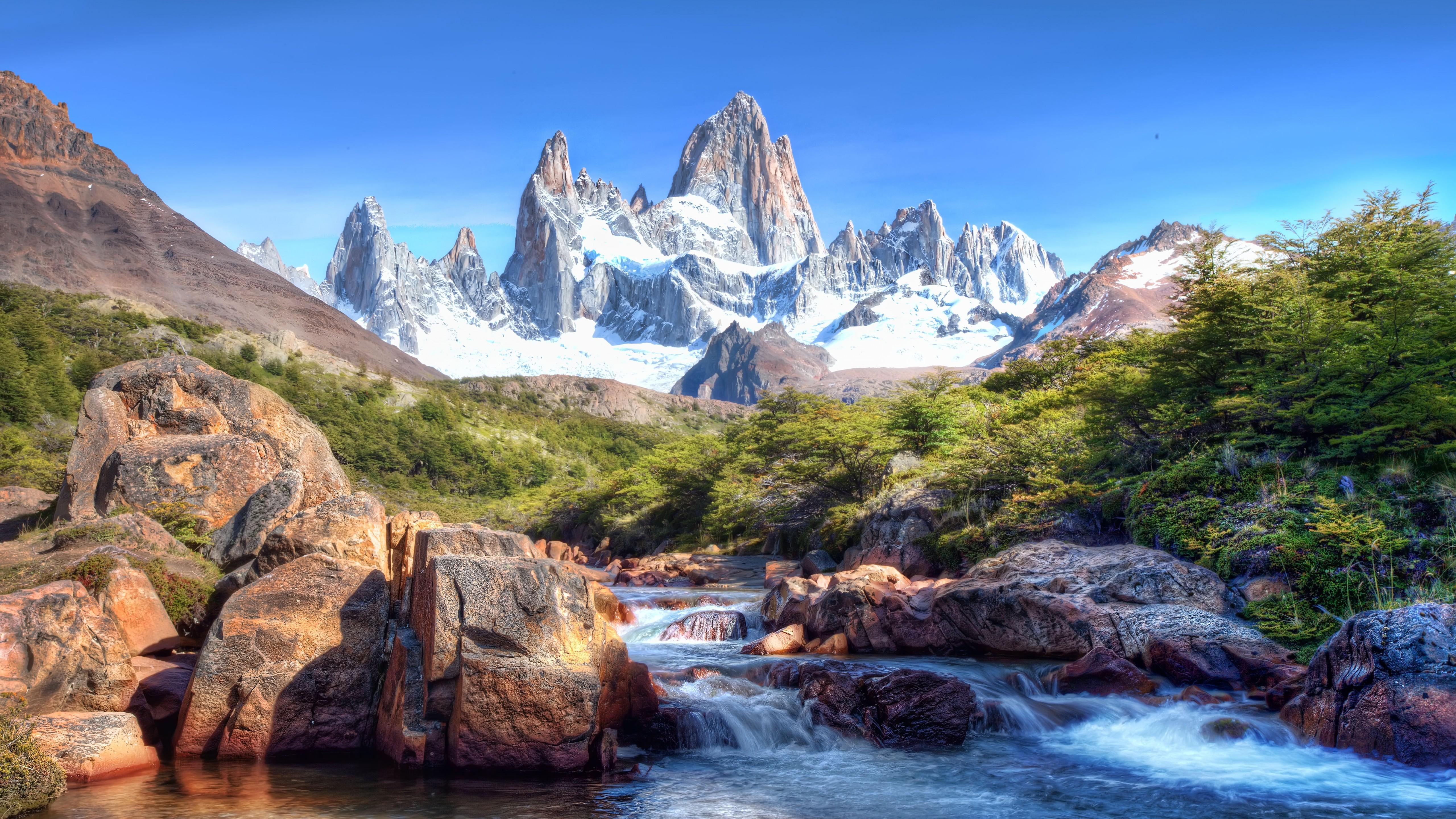 Wallpaper Caucasus Mountains 4k 5k Lake Nature 5176