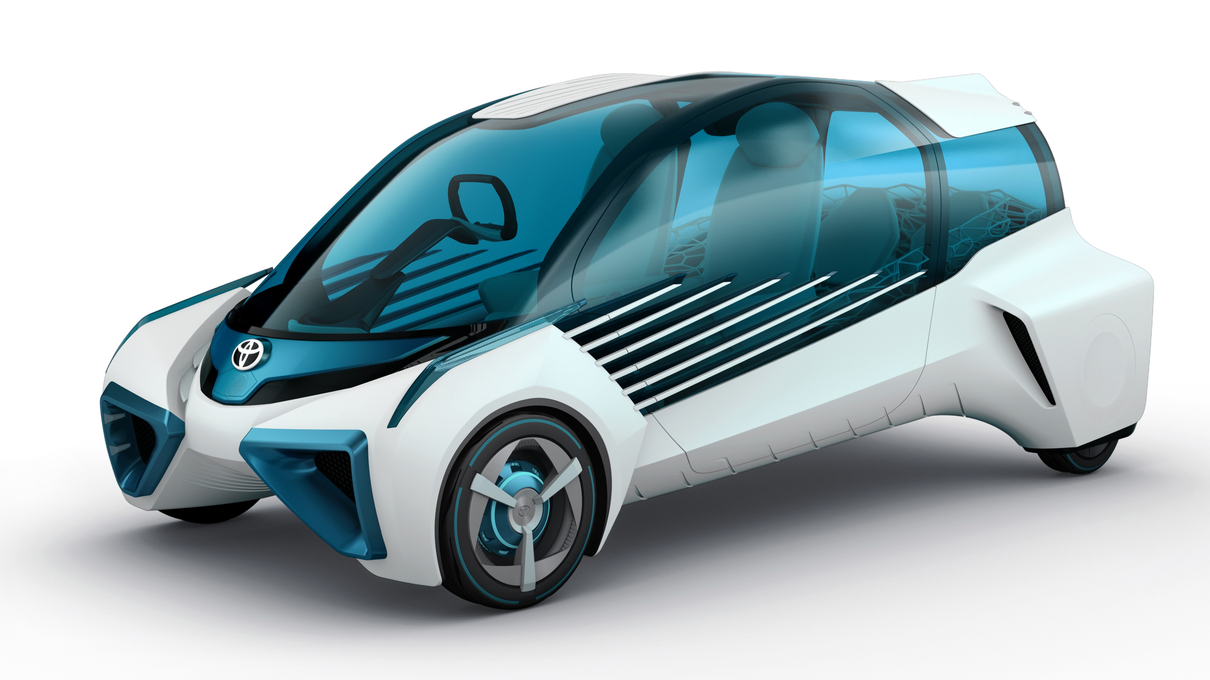 Wallpaper Ces Toyota Fcv Plus Electric Car Cars Bikes