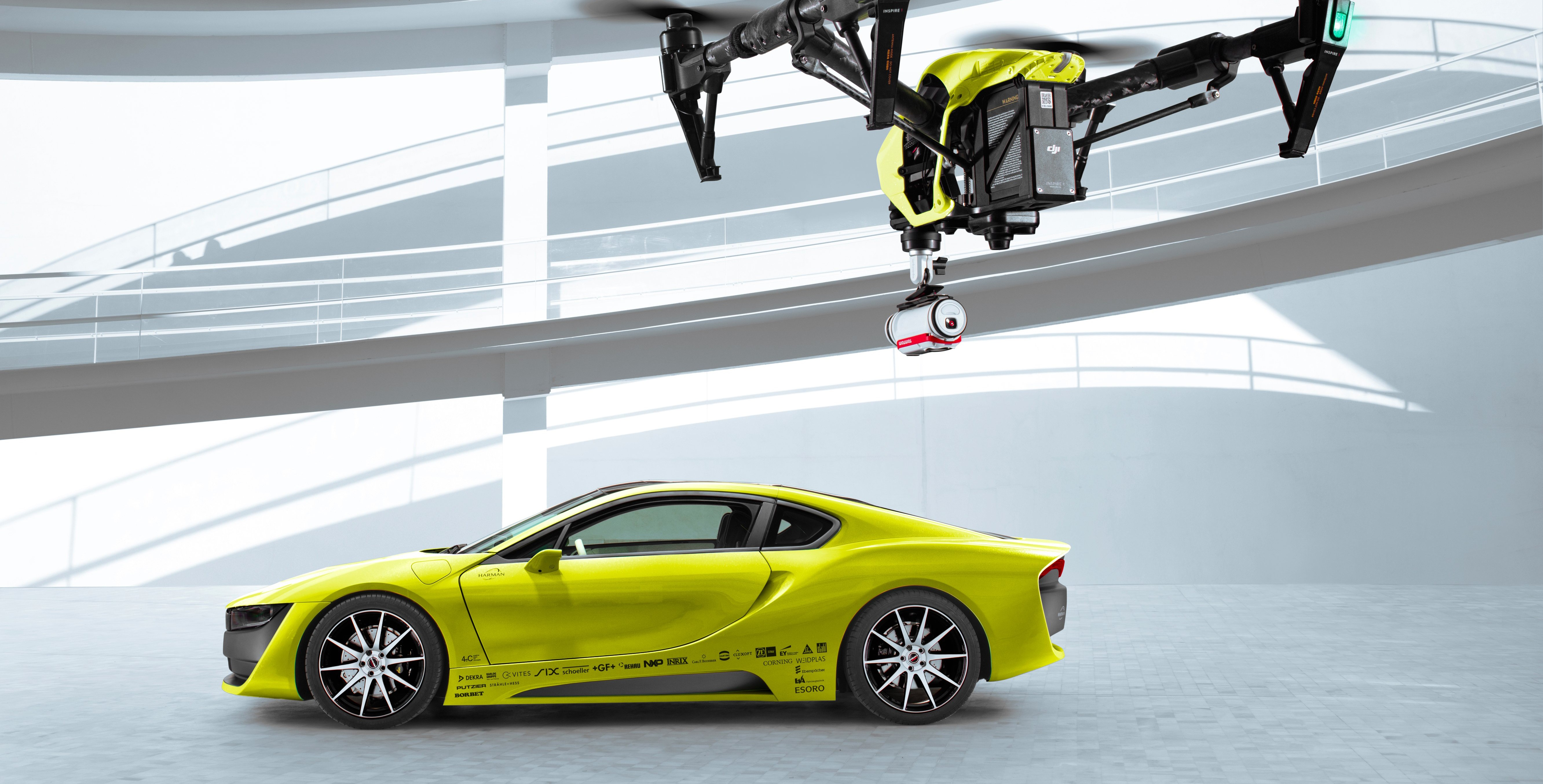 Wallpaper CES 2016 Etos Electric Car Drone DJI Inspire One Cars