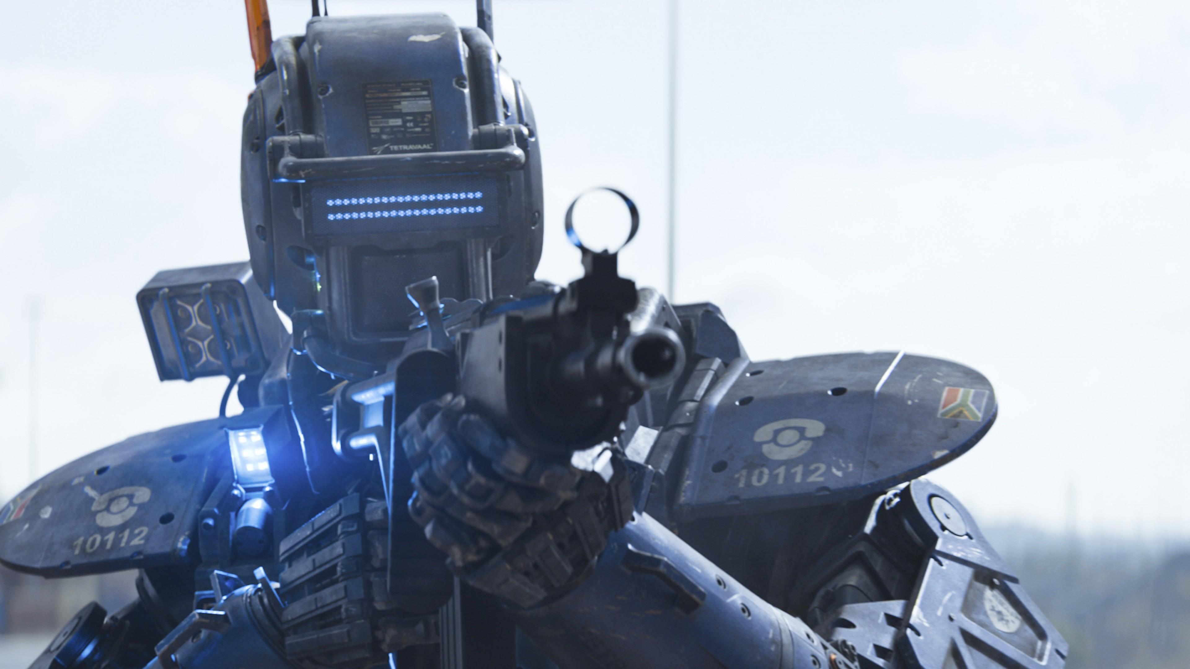 Wallpaper Chappie Best Movies Of 2015 Robot Police