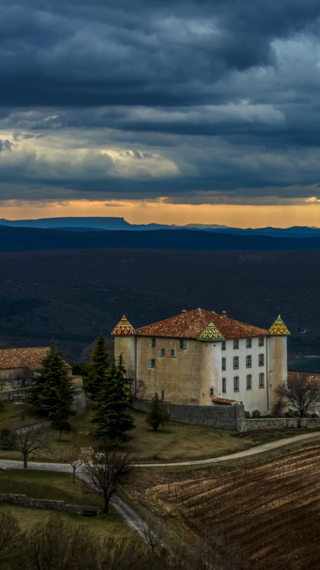 Bmw Mountain View >> Wallpaper Chateau Aiguines, 5k, 4k wallpaper, 8k, France, mountains, sunset, castle, Nature #6148