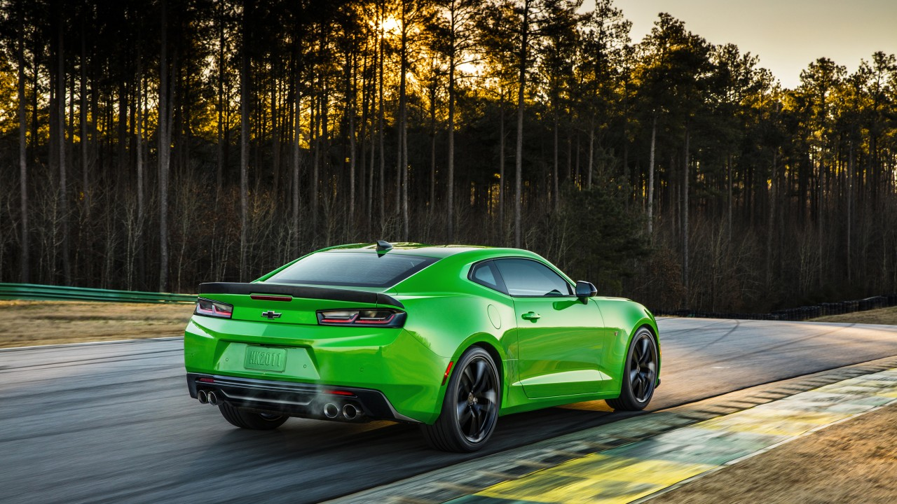 Wallpaper Chevrolet Camaro Lt1 Le Nyias 2016 Green Cars