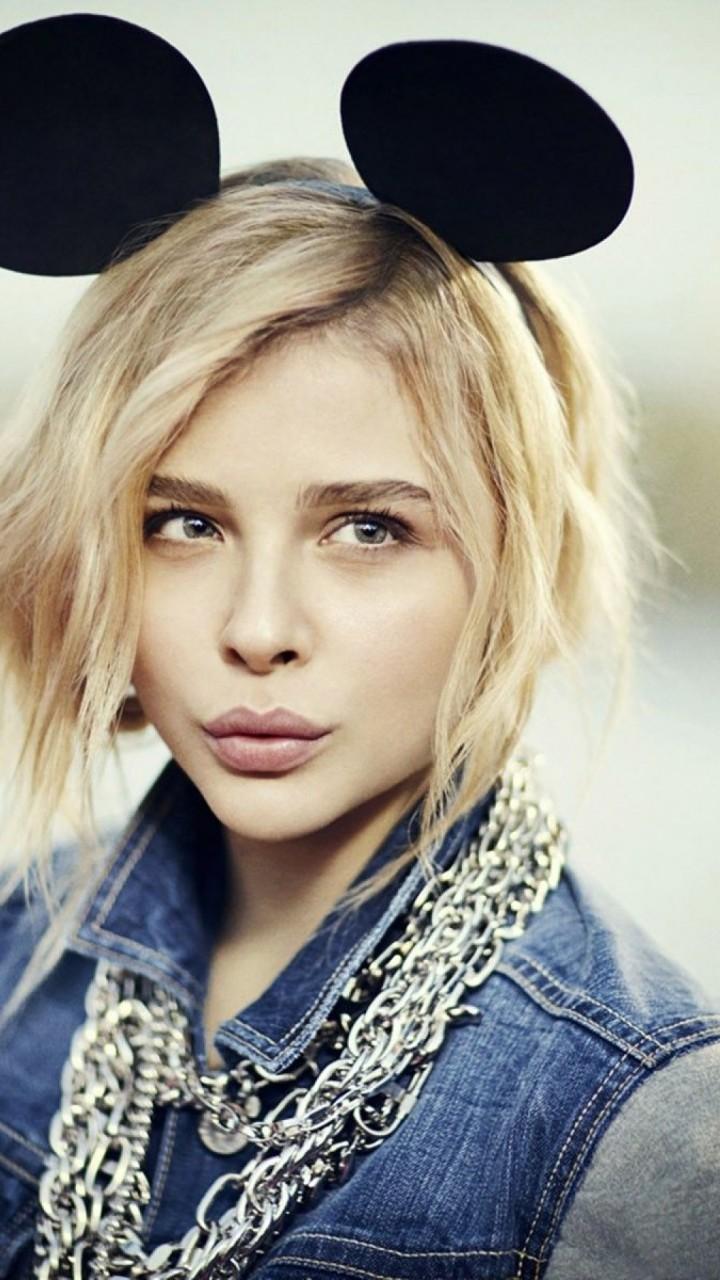 Wallpaper Chloe Moretz Actress Blonde Portrait