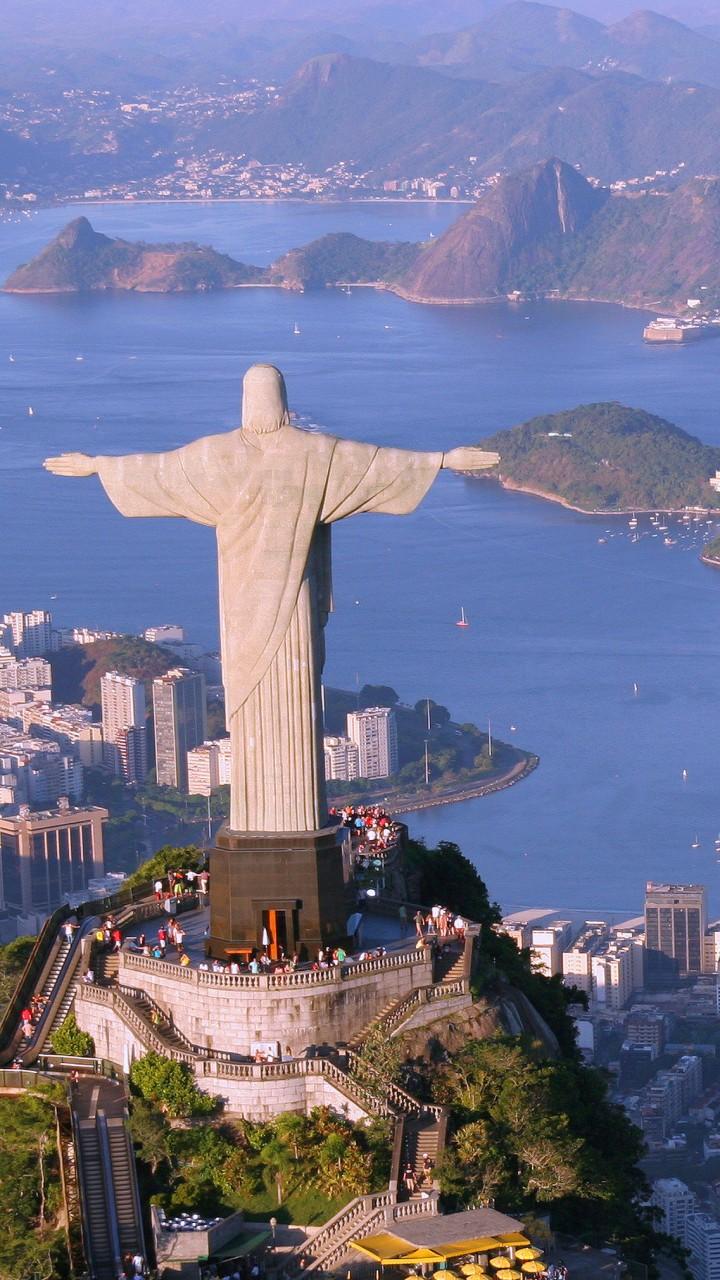 wallpaper christ redeemer rio de janeiro brazil tourism travel architecture