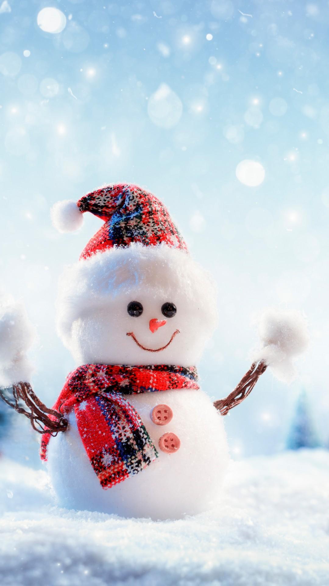 wallpaper christmas new year snow winter snowman 8k